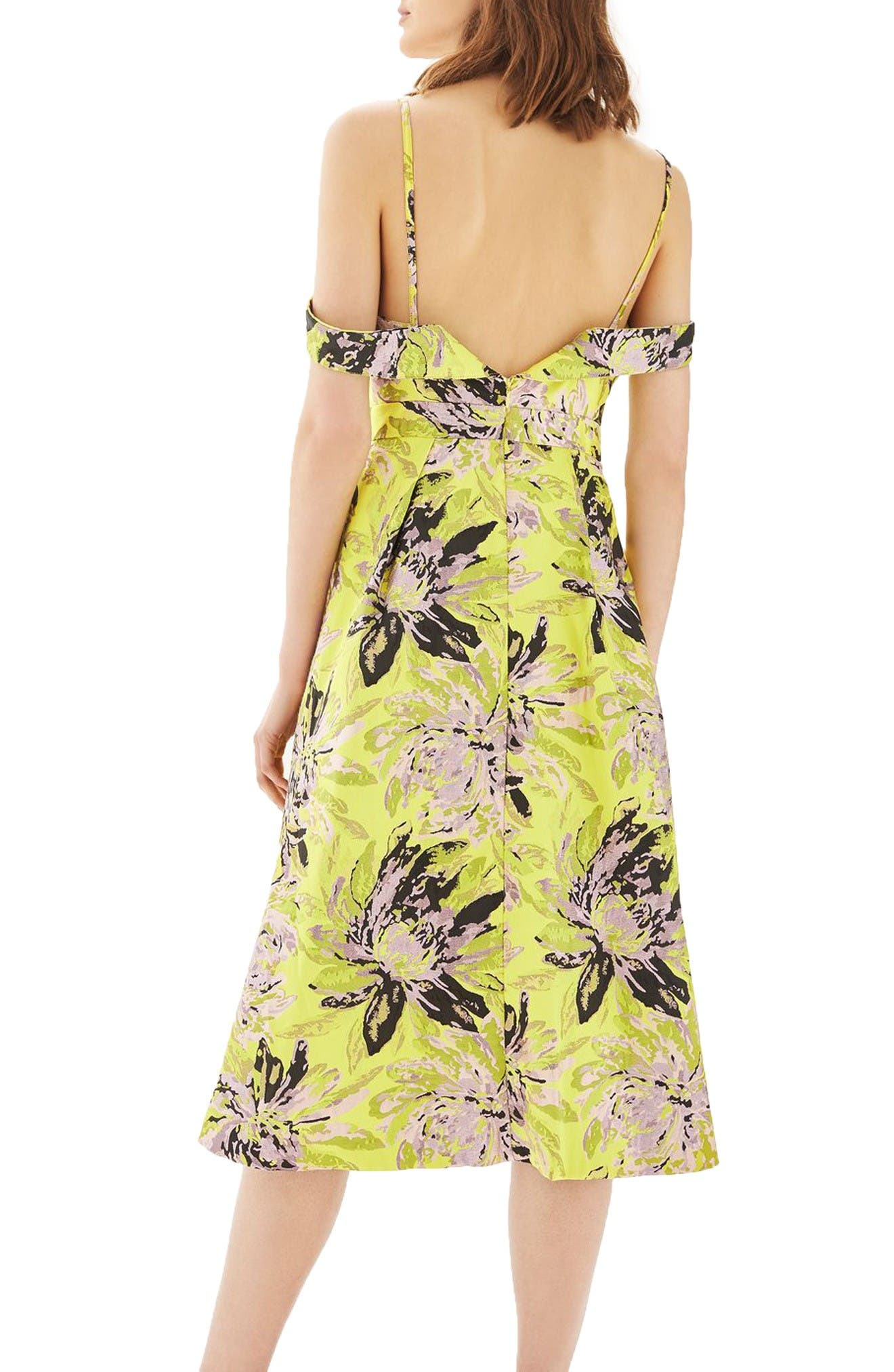 Alternate Image 3  - Topshop Floral Jacquard Midi Dress