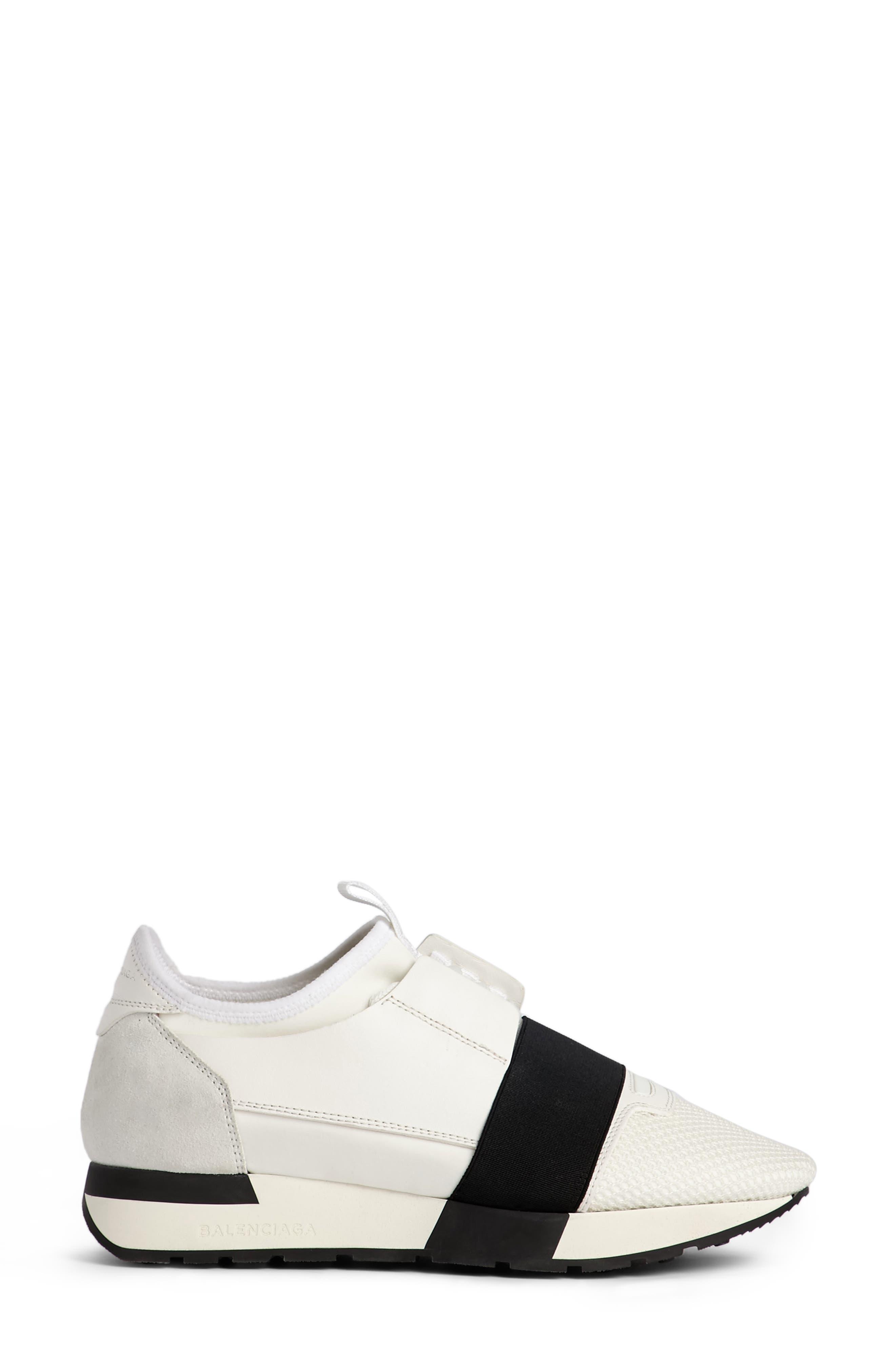 Alternate Image 4  - Balenciaga Mixed Media Trainer Sneaker (Women)