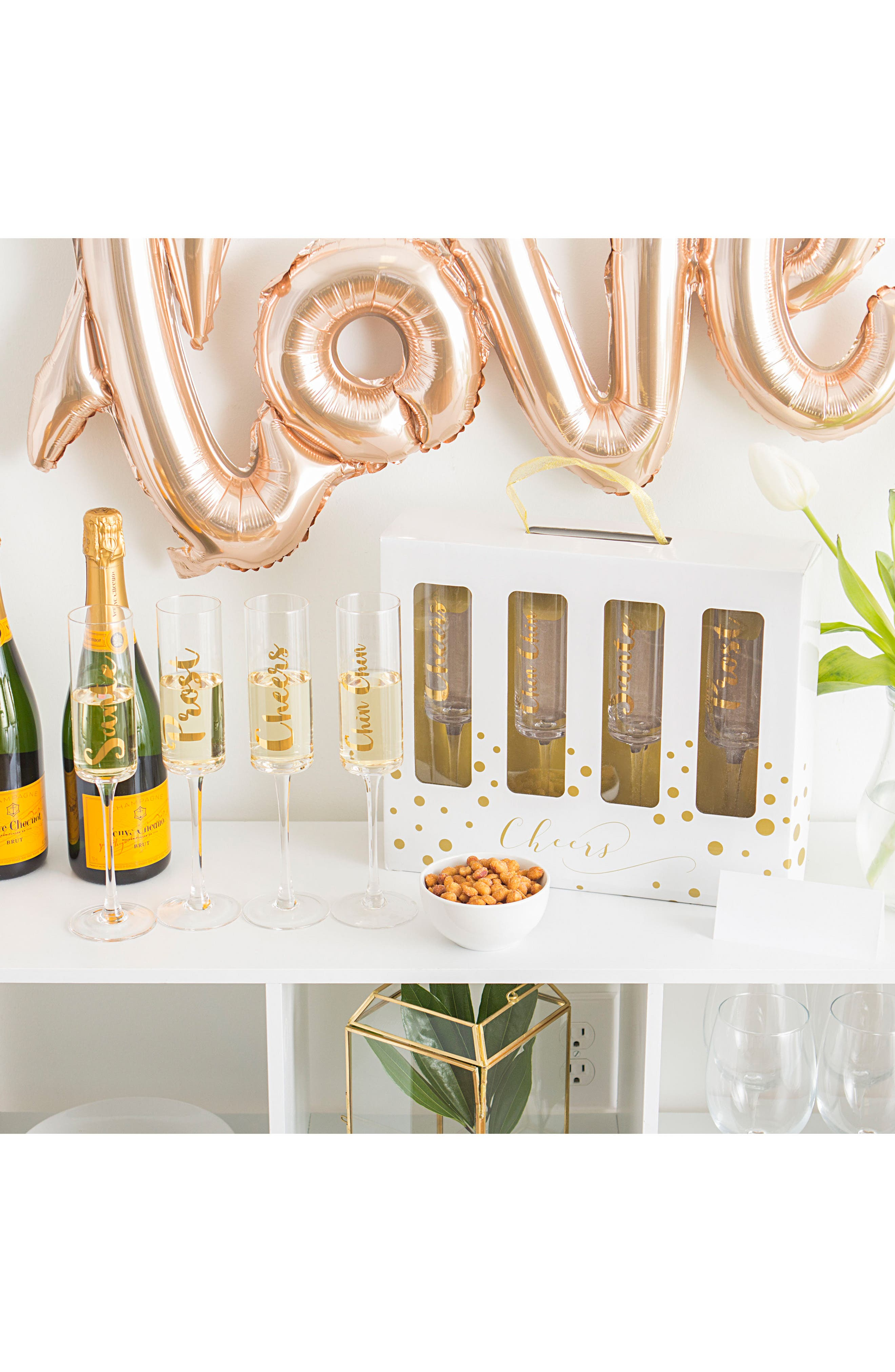 Alternate Image 4  - Cathy's Concepts 'Cheers' Champagne Flutes (Set of 4)