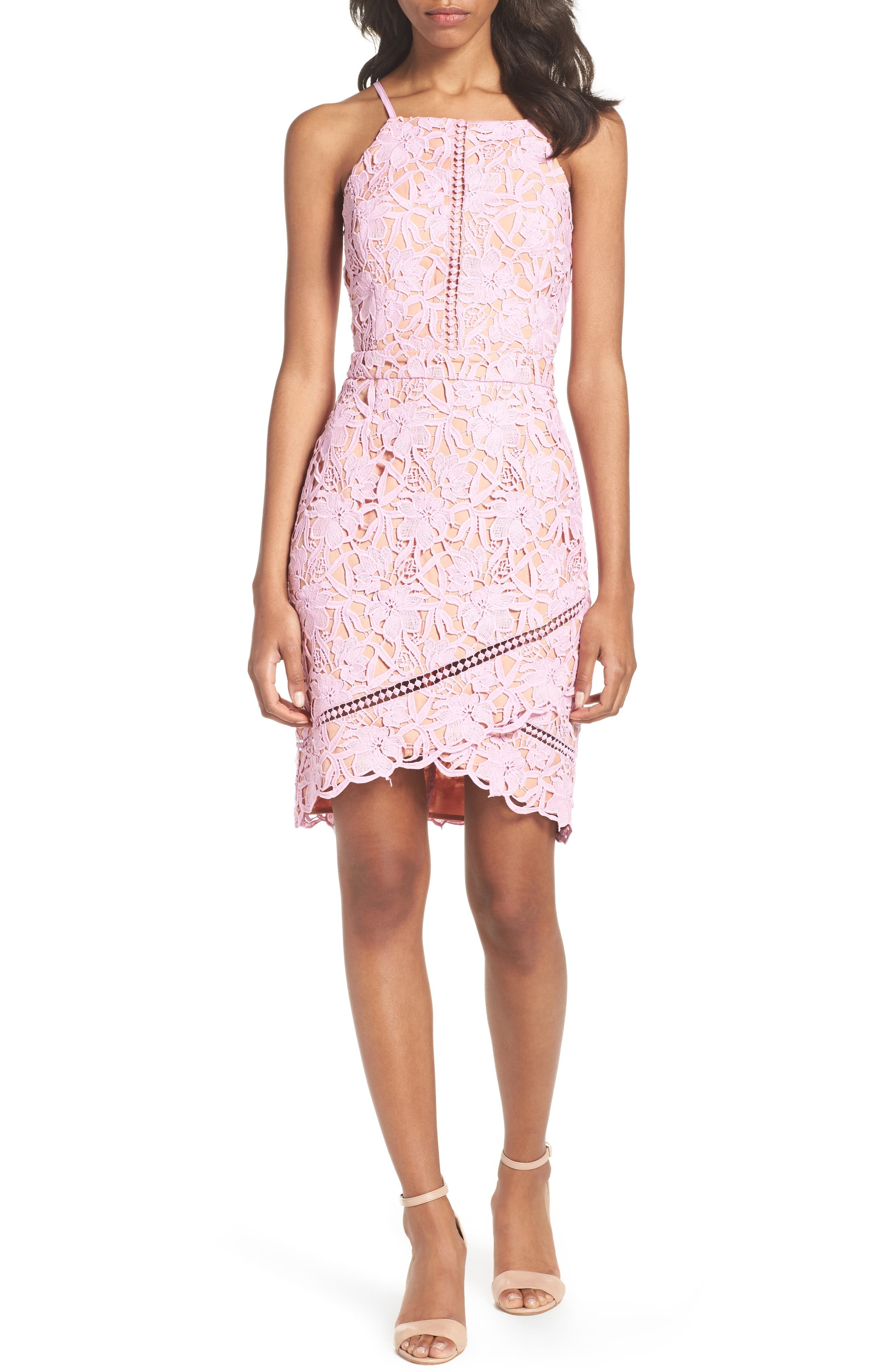 Alternate Image 1 Selected - Adelyn Rae Lace Sheath Dress