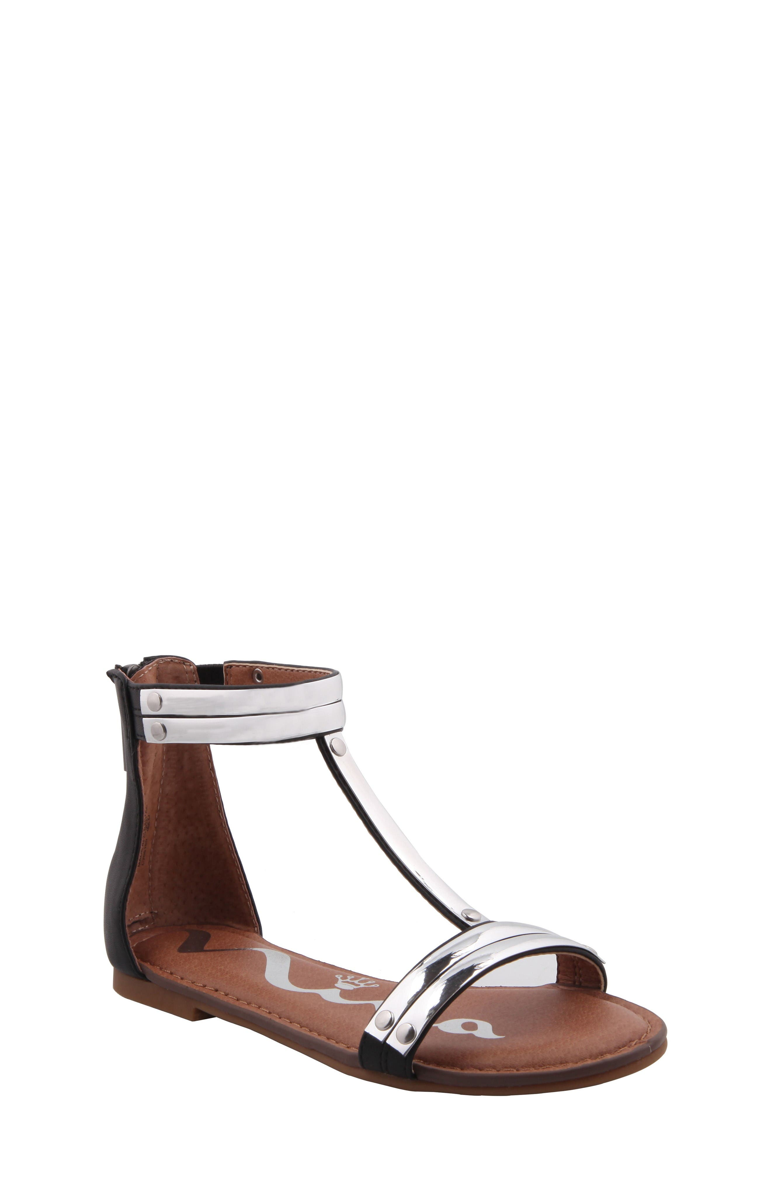 Nina Danu Metallic T-Strap Sandal (Little Kid & Big Kid)