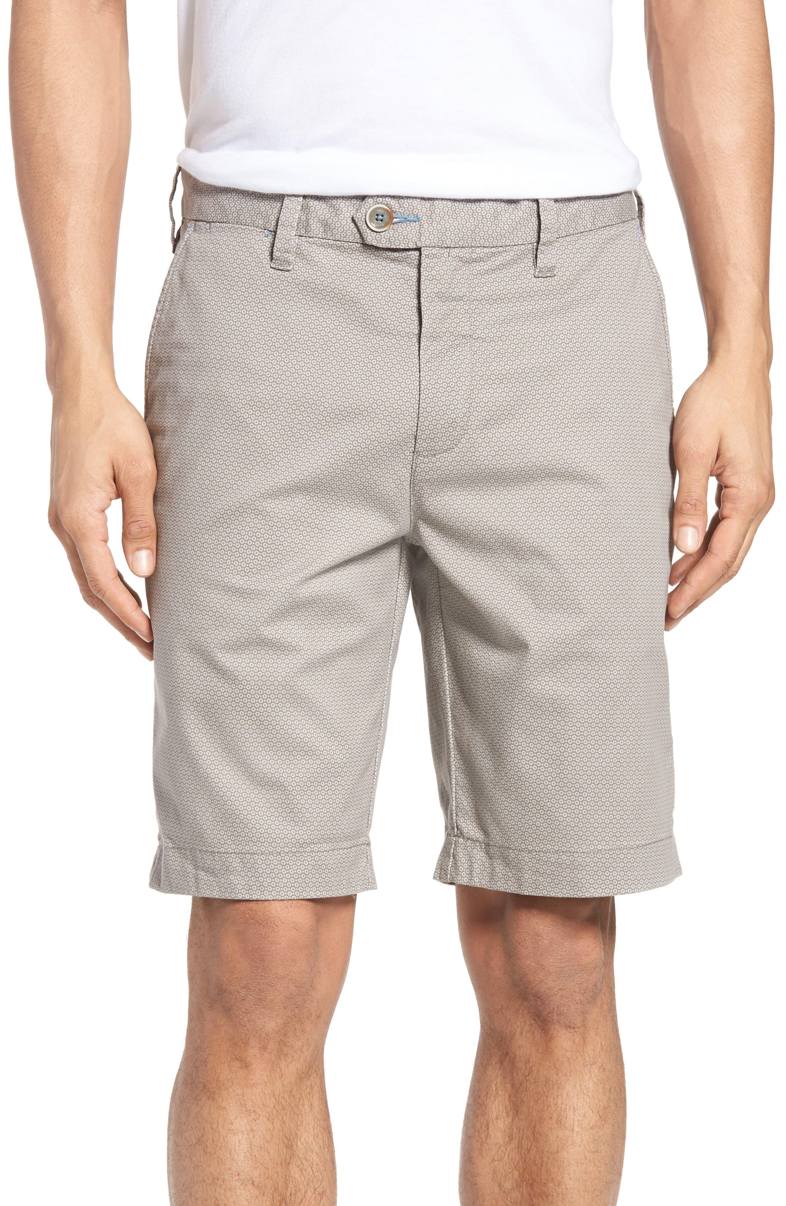 Ted Baker London Exsho Stretch Cotton Shorts
