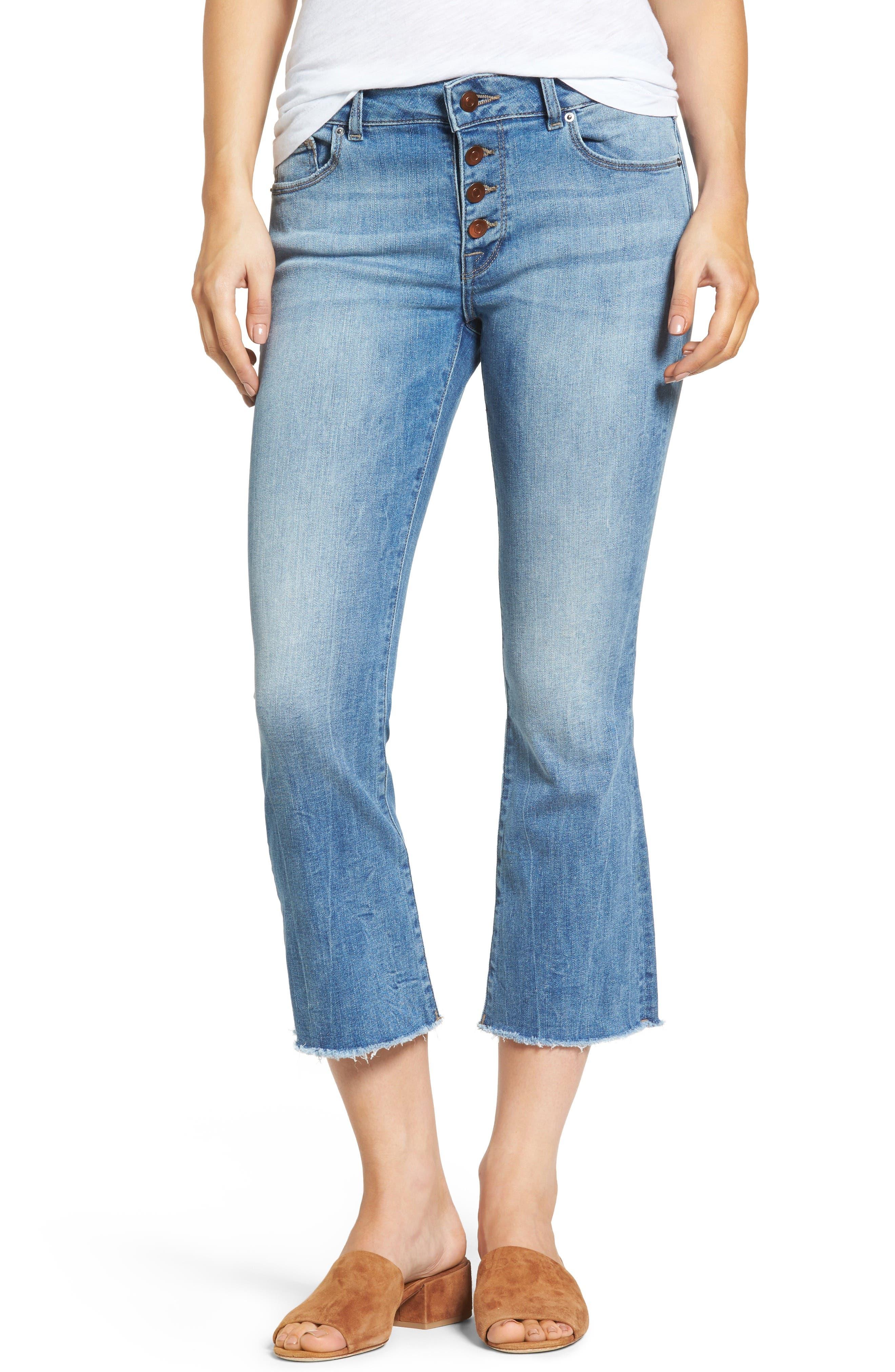 DL1961 Lara Instasculpt Crop Flare Jeans (Nugget)