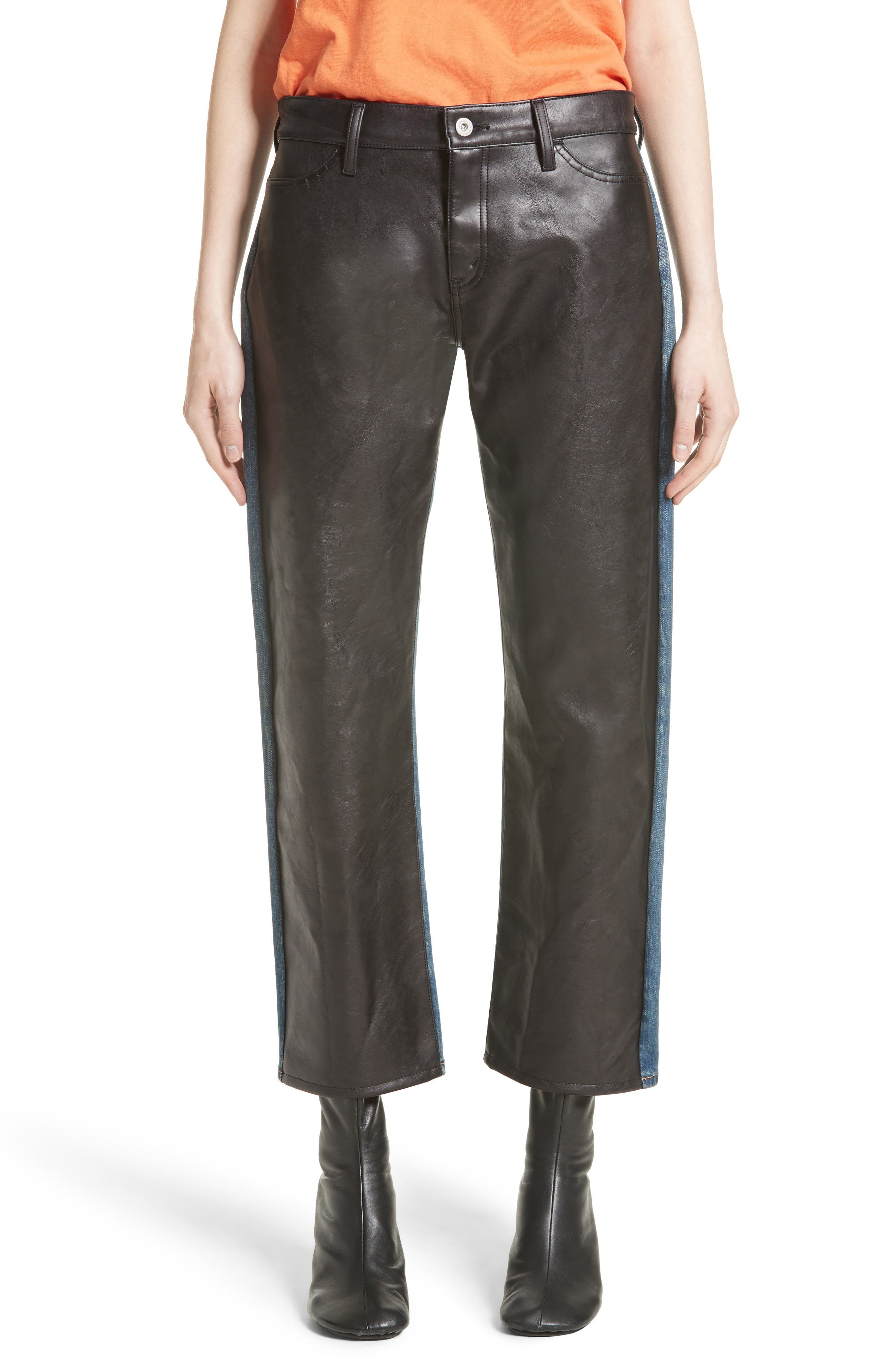 Junya Watanabe Faux Leather Front Jeans
