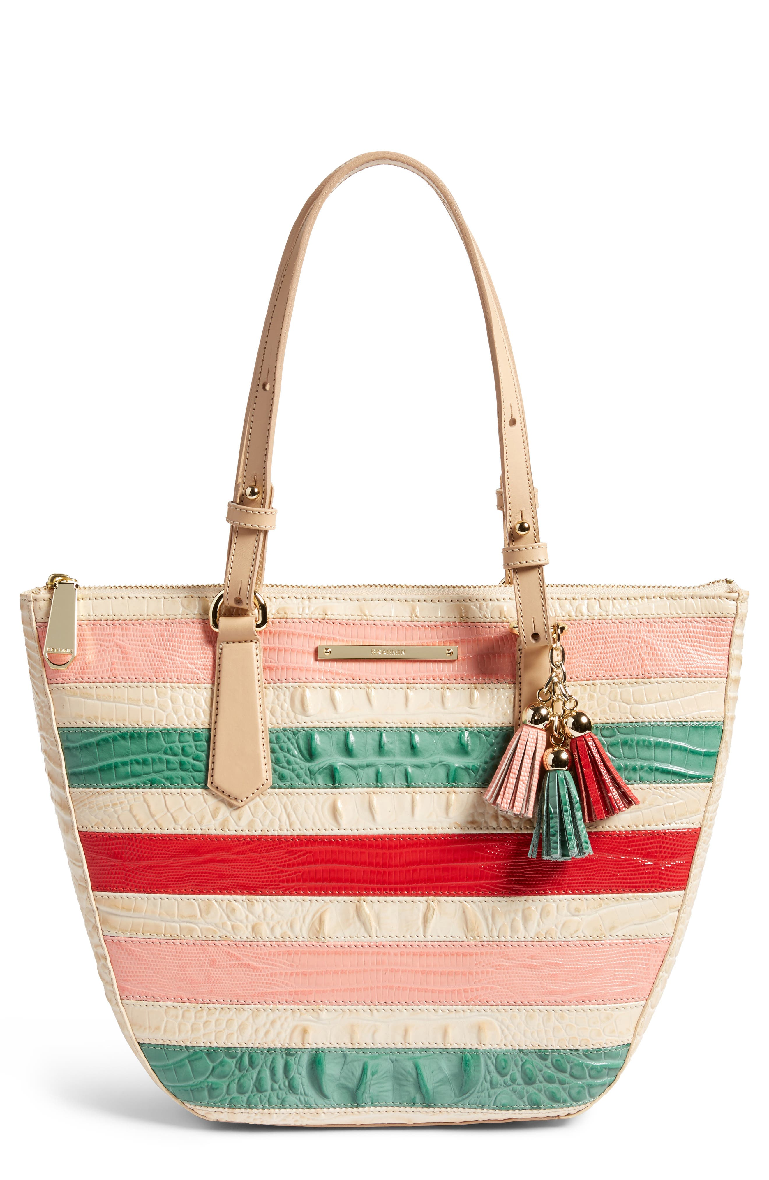 Brahmin Small Willa Croc Embossed Leather Tote