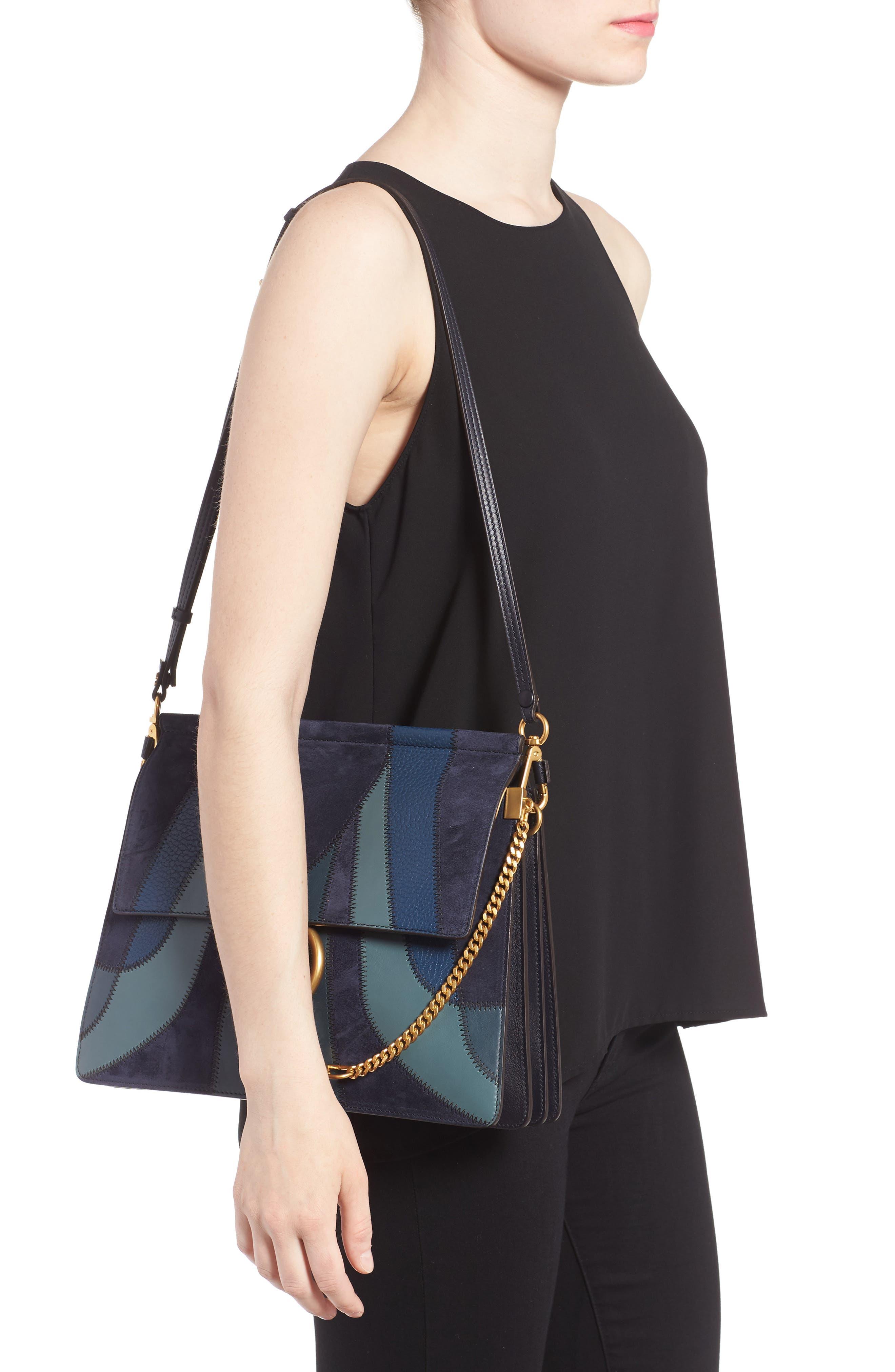 Alternate Image 2  - Chloé Medium Faye Patchwork Leather Shoulder Bag
