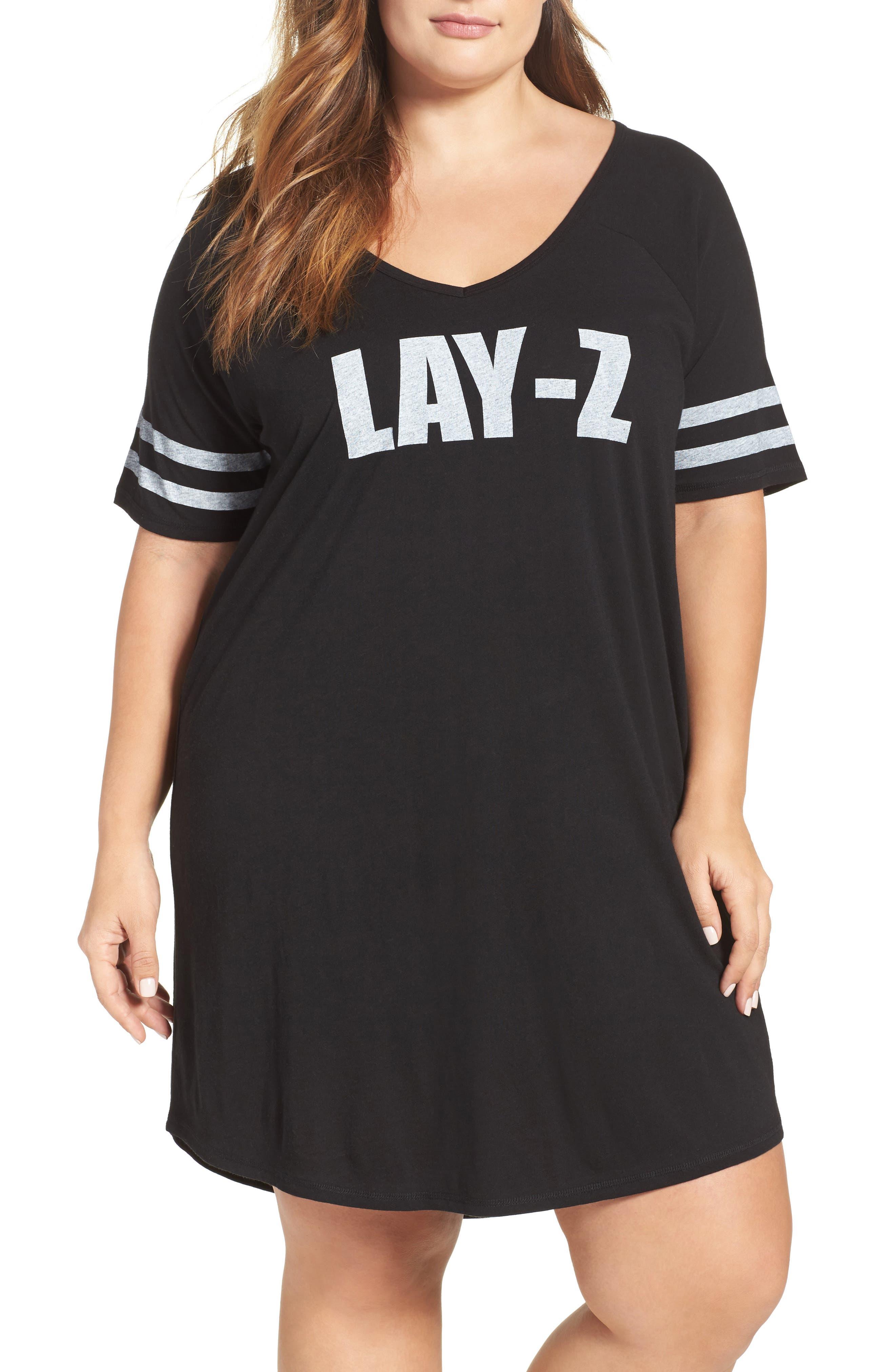 Alternate Image 1 Selected - COZY ZOE Graphic Sleep Shirt (Plus Size)