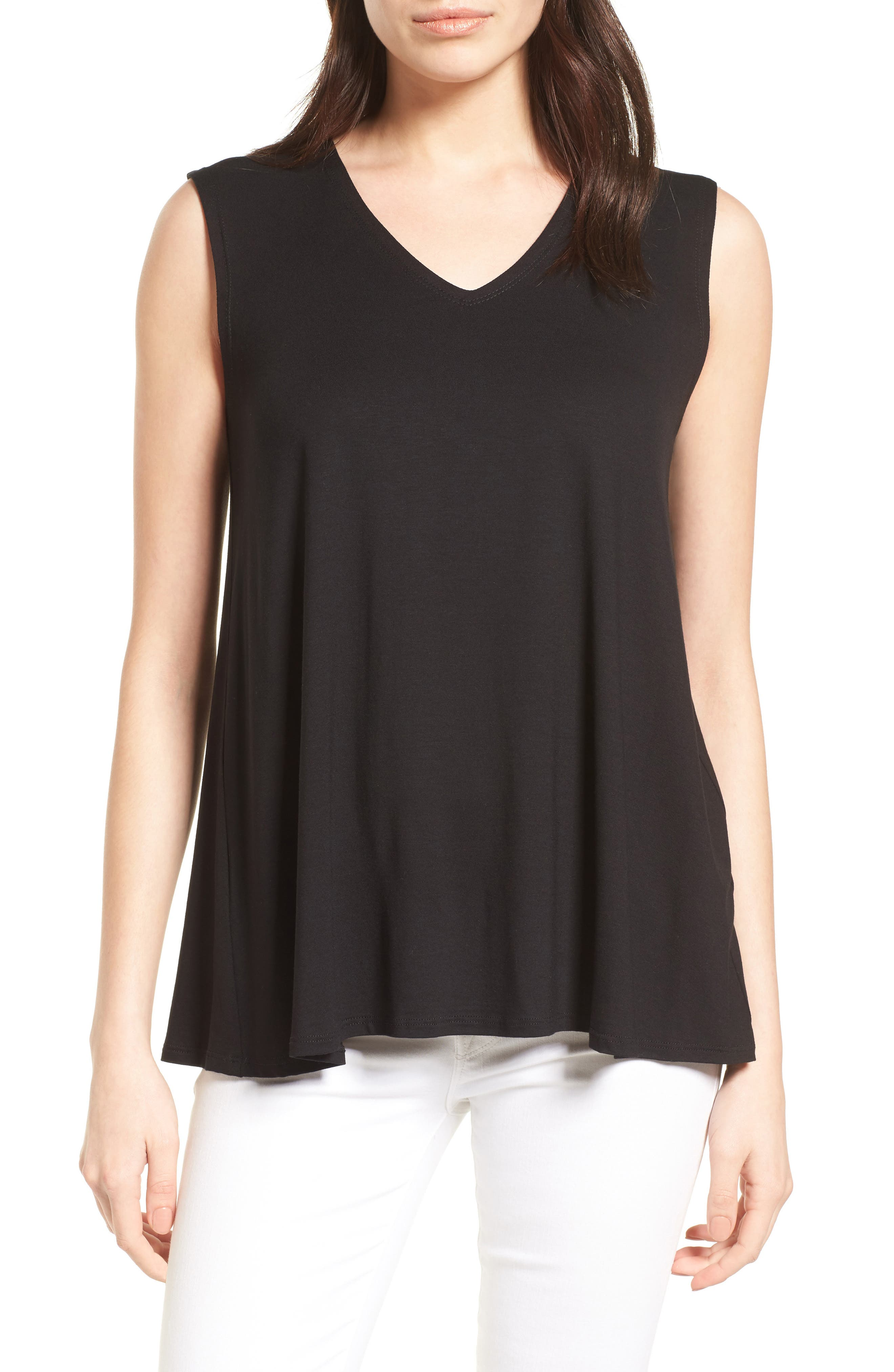 Eileen Fisher Jersey Tank (Regular & Petite) (Nordstrom Exclusive)