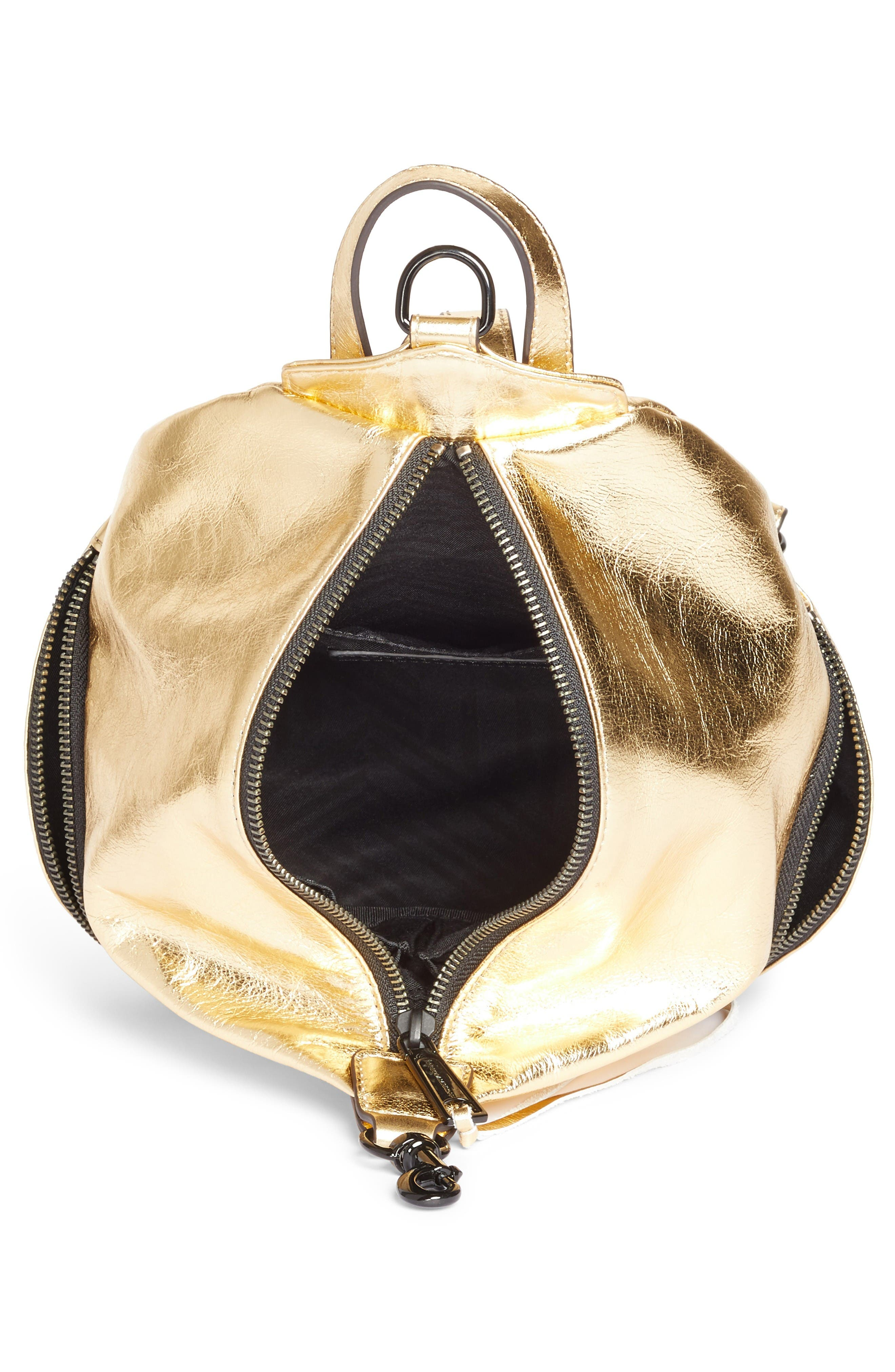 Alternate Image 4  - Rebecca Minkoff Medium Julian Metallic Leather Backpack (Nordstrom Exclusive)