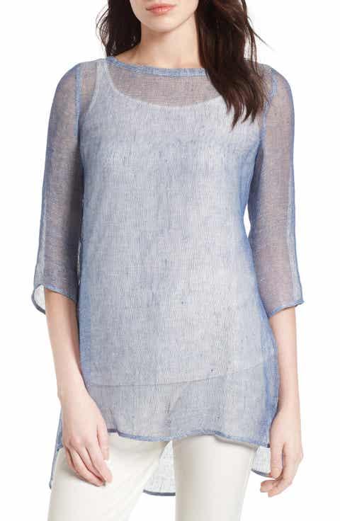 Eileen Fisher Organic Linen Blend Tunic (Regular   Petite)