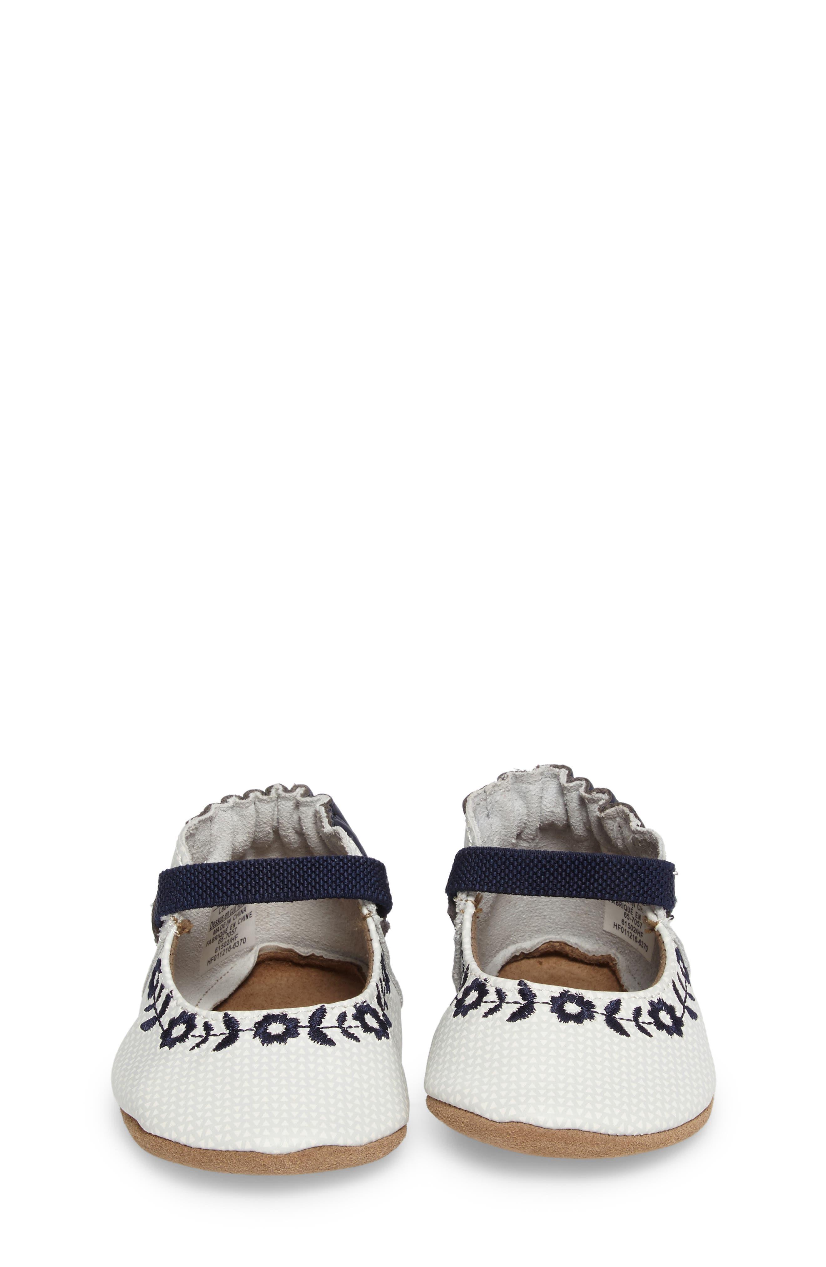 Alternate Image 3  - Robeez® Daisy Lane Embroidered Mary Jane Crib Shoe (Baby & Walker)