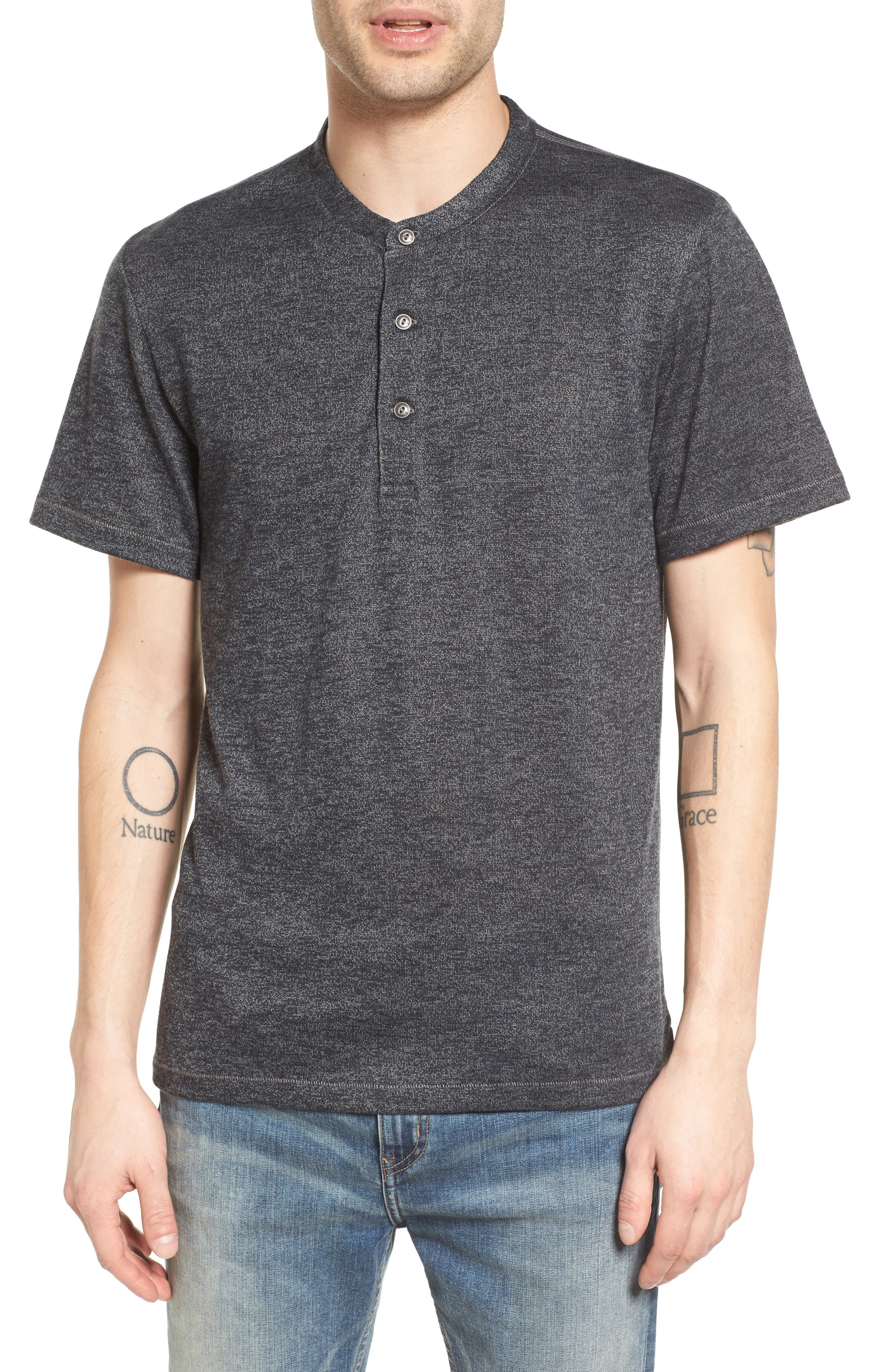 Treasure & Bond Marled Henley T-Shirt