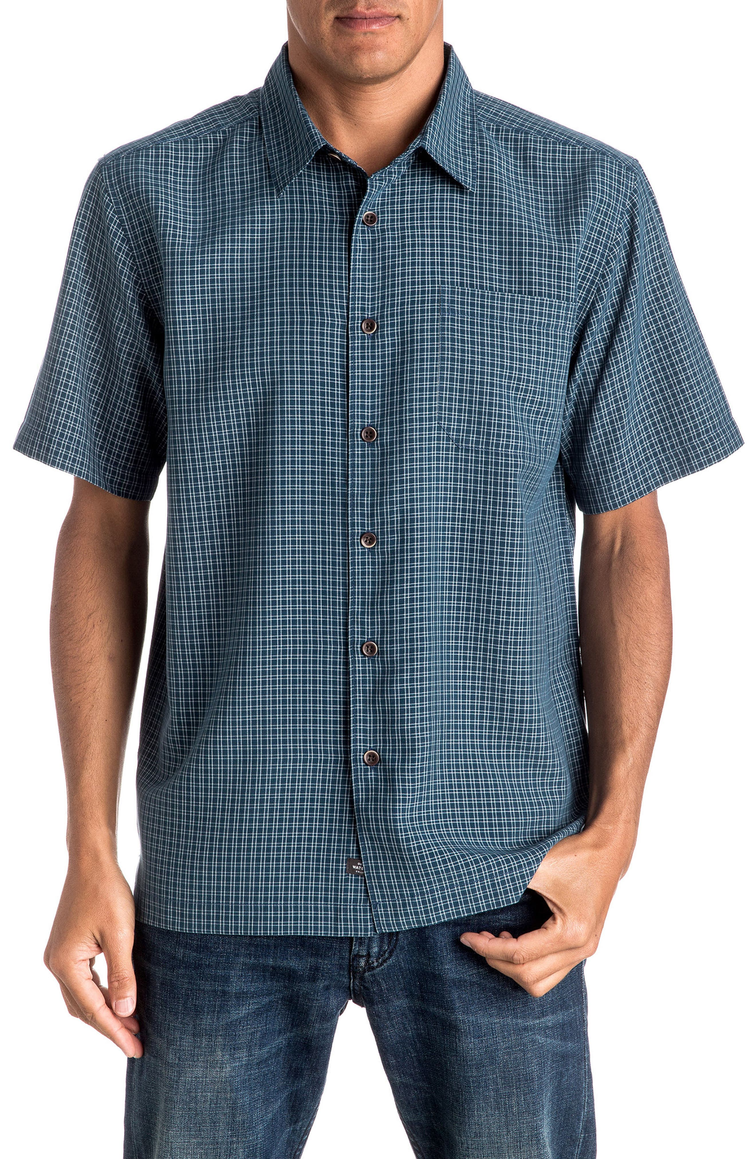 Quiksilver Waterman Collection 'Buoy' Regular Fit Check Sport Shirt