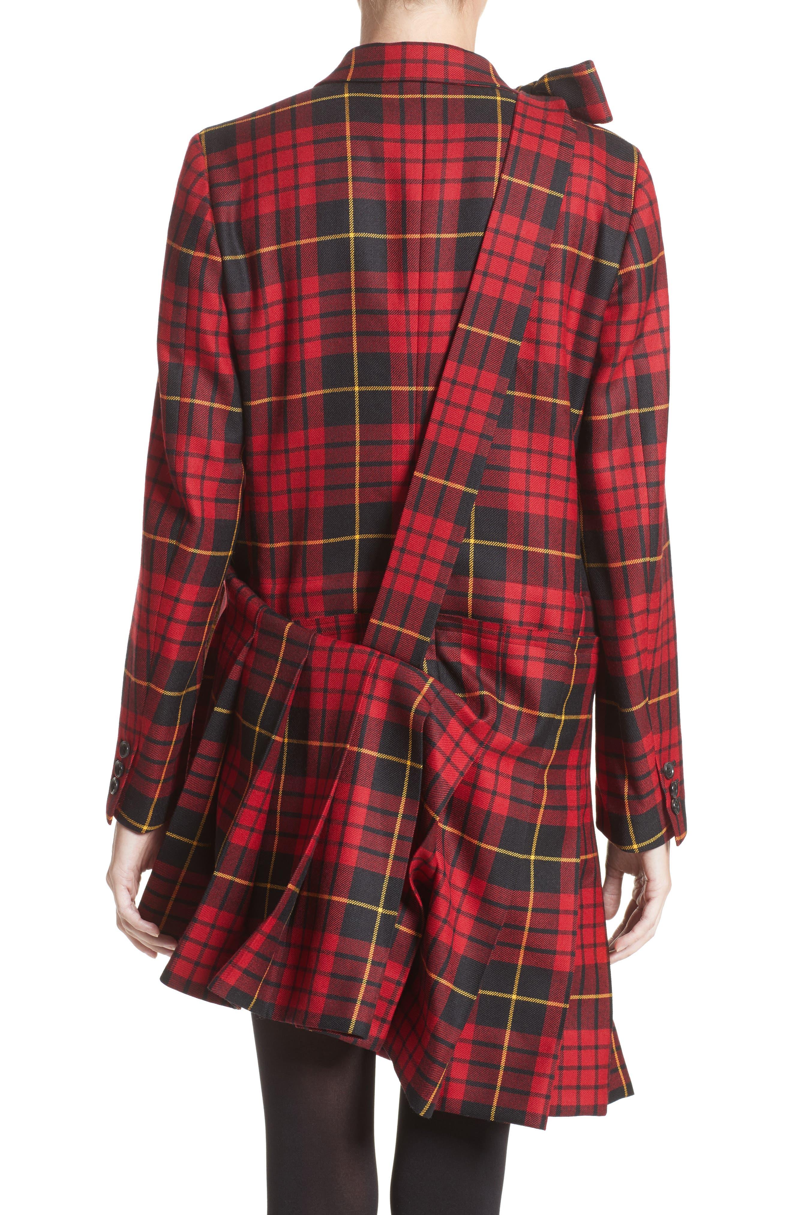 Alternate Image 2  - Comme des Garçons Tartan Plaid Wool Jacket