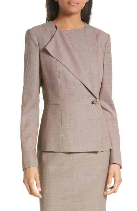 BOSS Jelanisa Tweed Suit Jacket