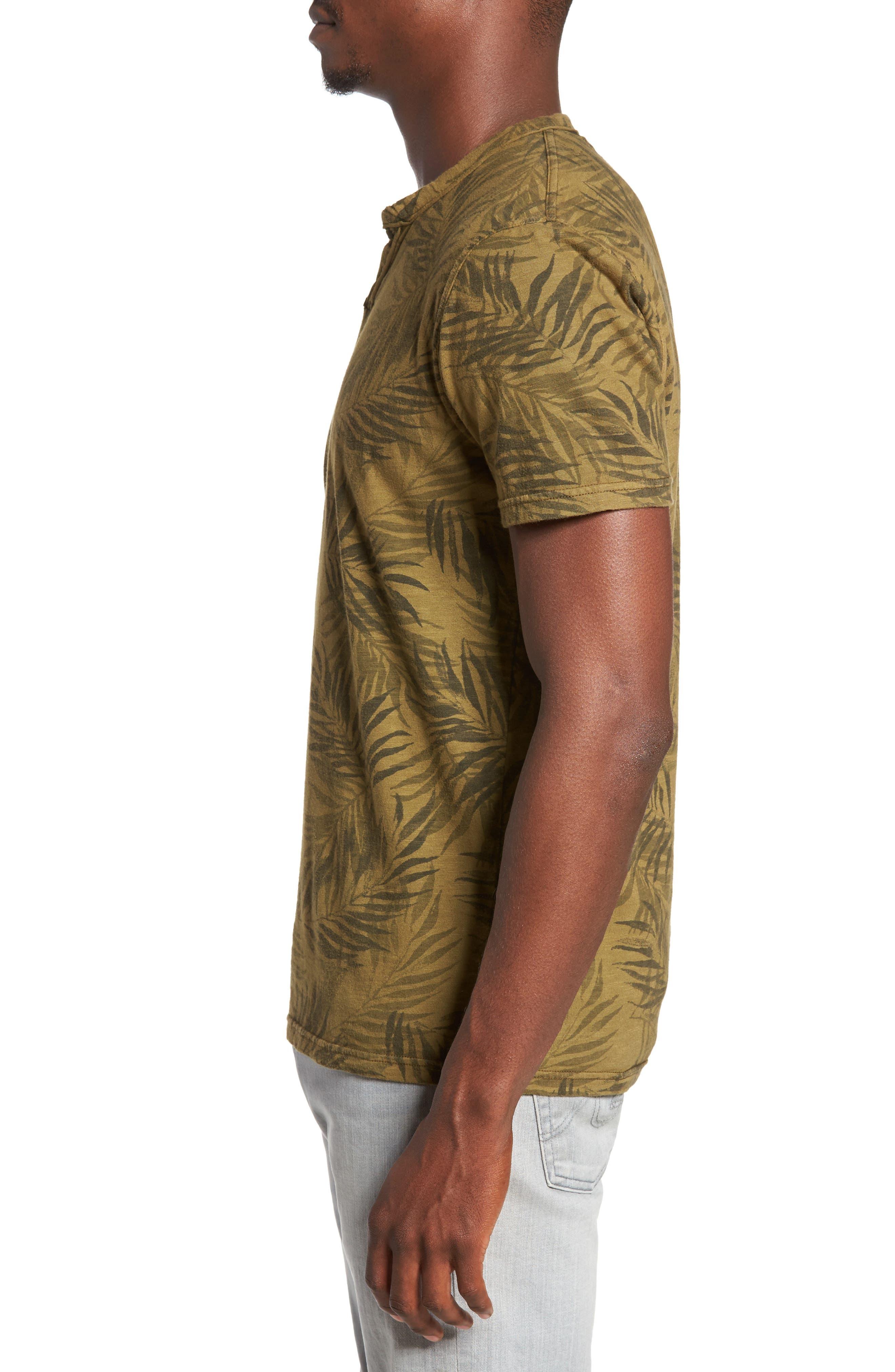 Alternate Image 3  - Lucky Brand Palm Print Notch T-Shirt