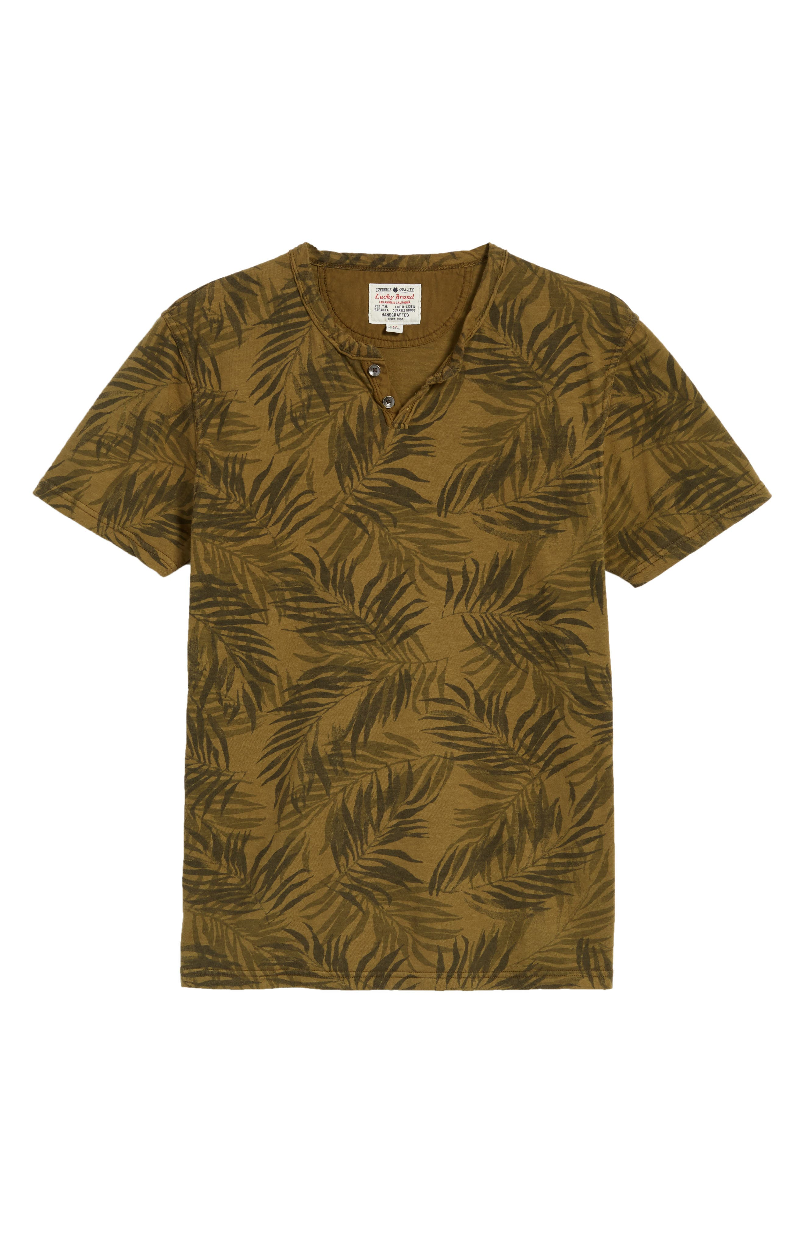 Alternate Image 6  - Lucky Brand Palm Print Notch T-Shirt