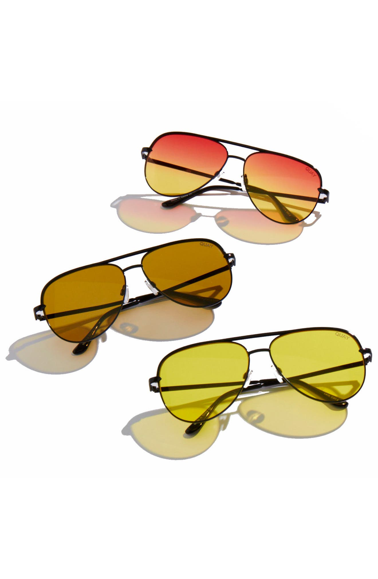 Alternate Image 5  - Quay Australia x Desi Perkins Sahara 60mm Aviator Sunglasses