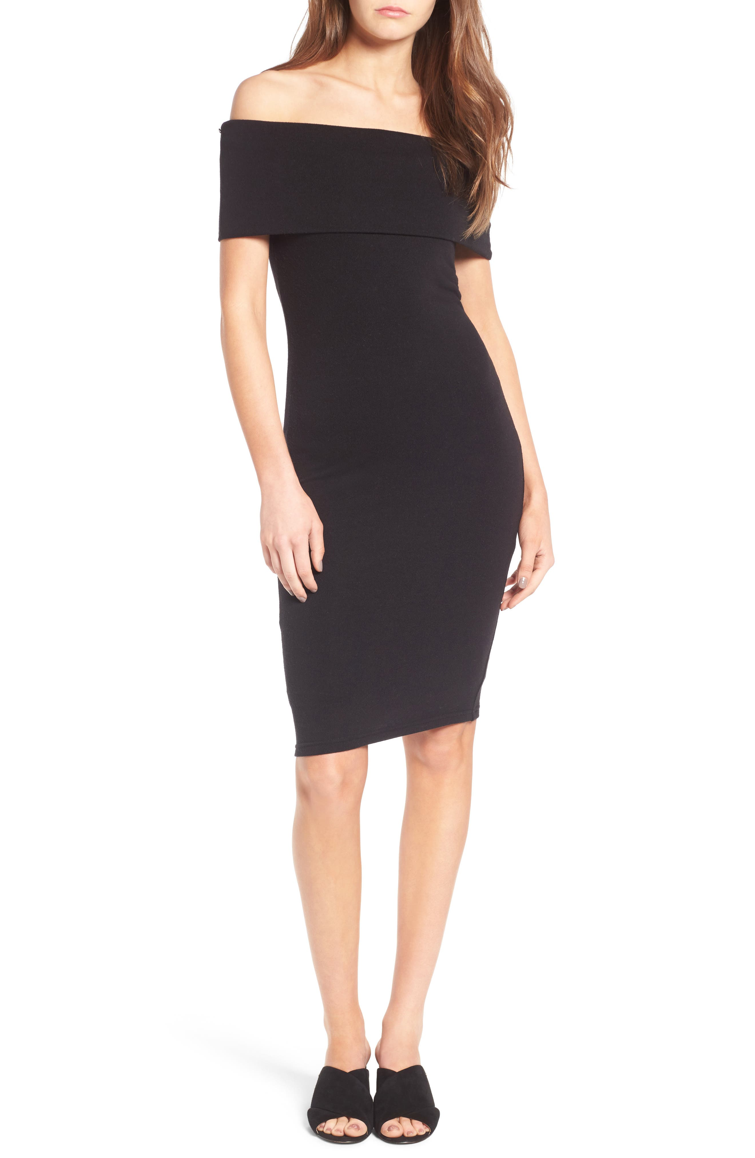 cupcakes and cashmere Betsey Off the Shoulder Body-Con Dress