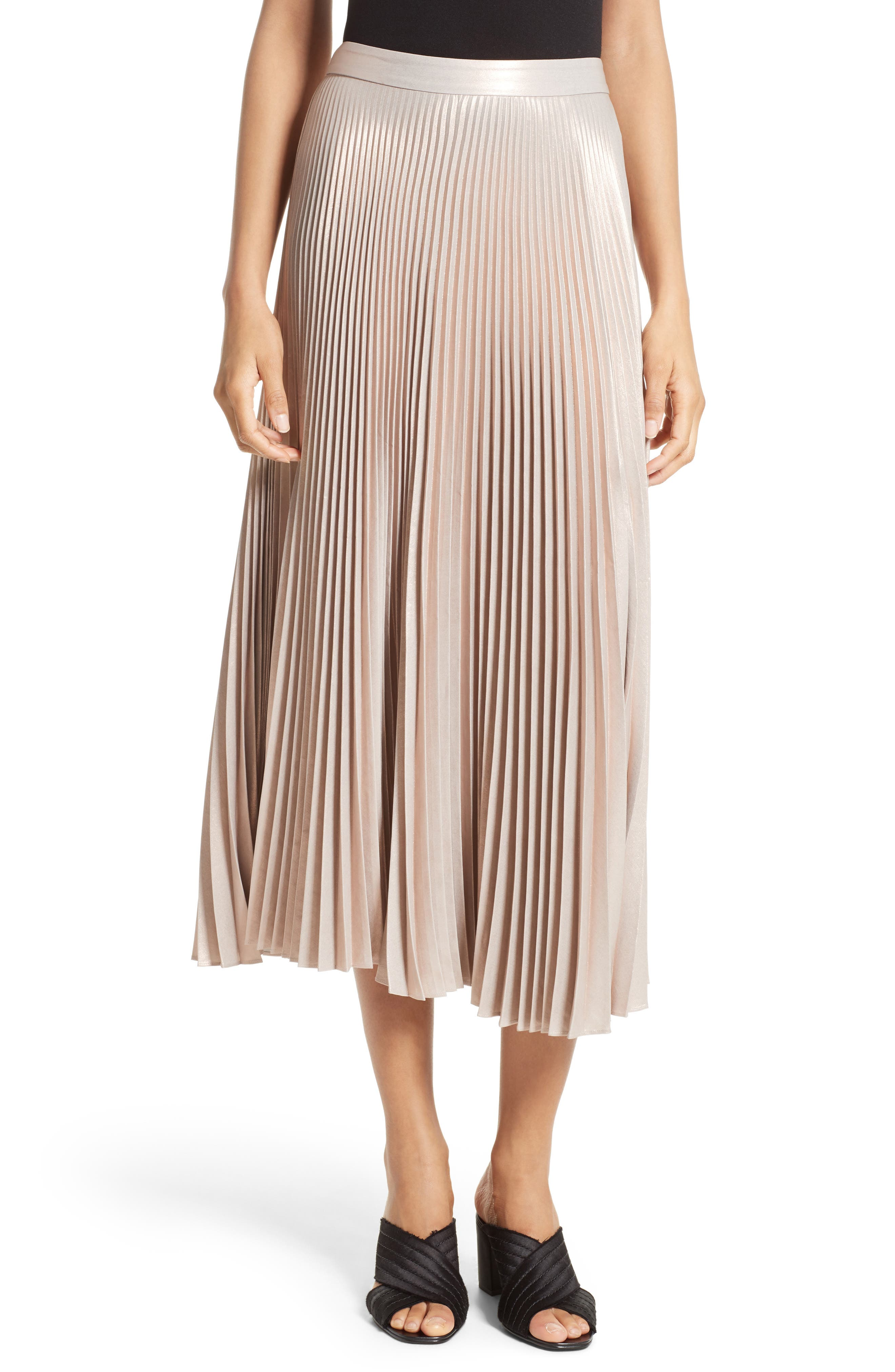 A.L.C. Bobby Pleated Midi Skirt