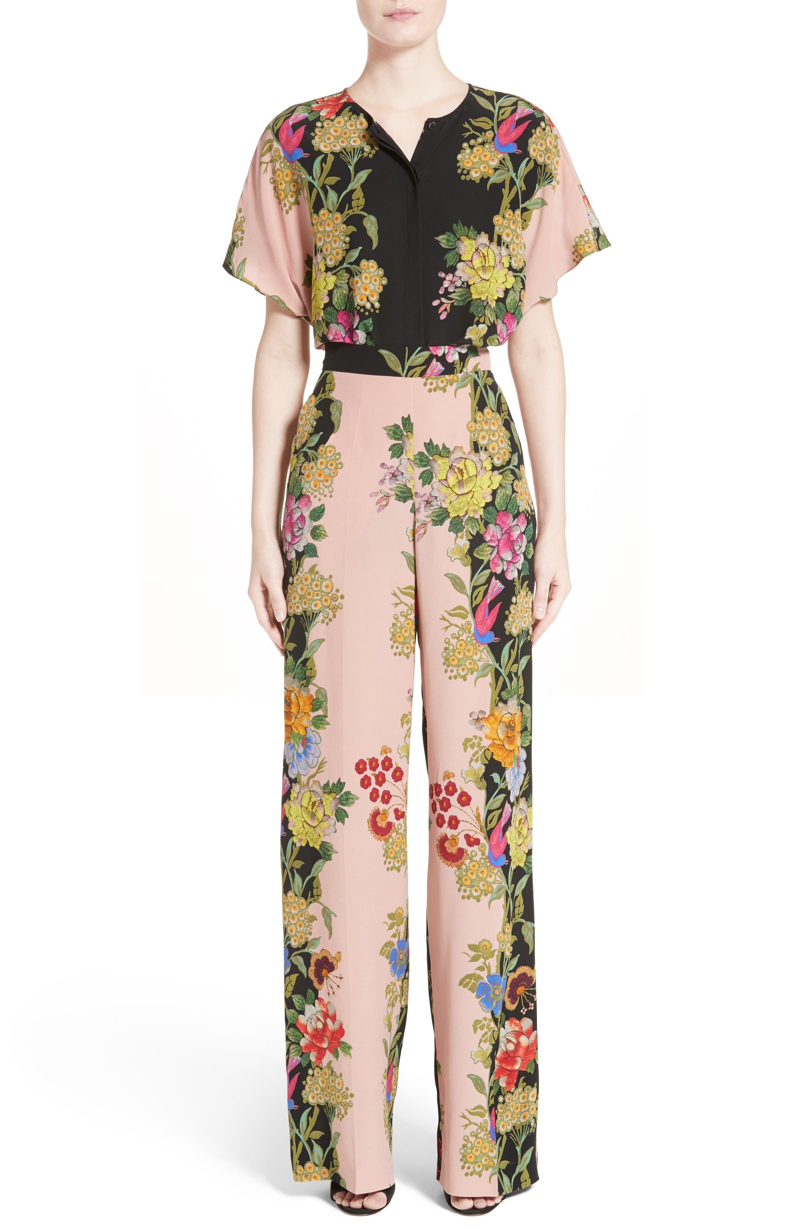 Alternate Image 7  - Etro Largo Floral Print Silk Pants