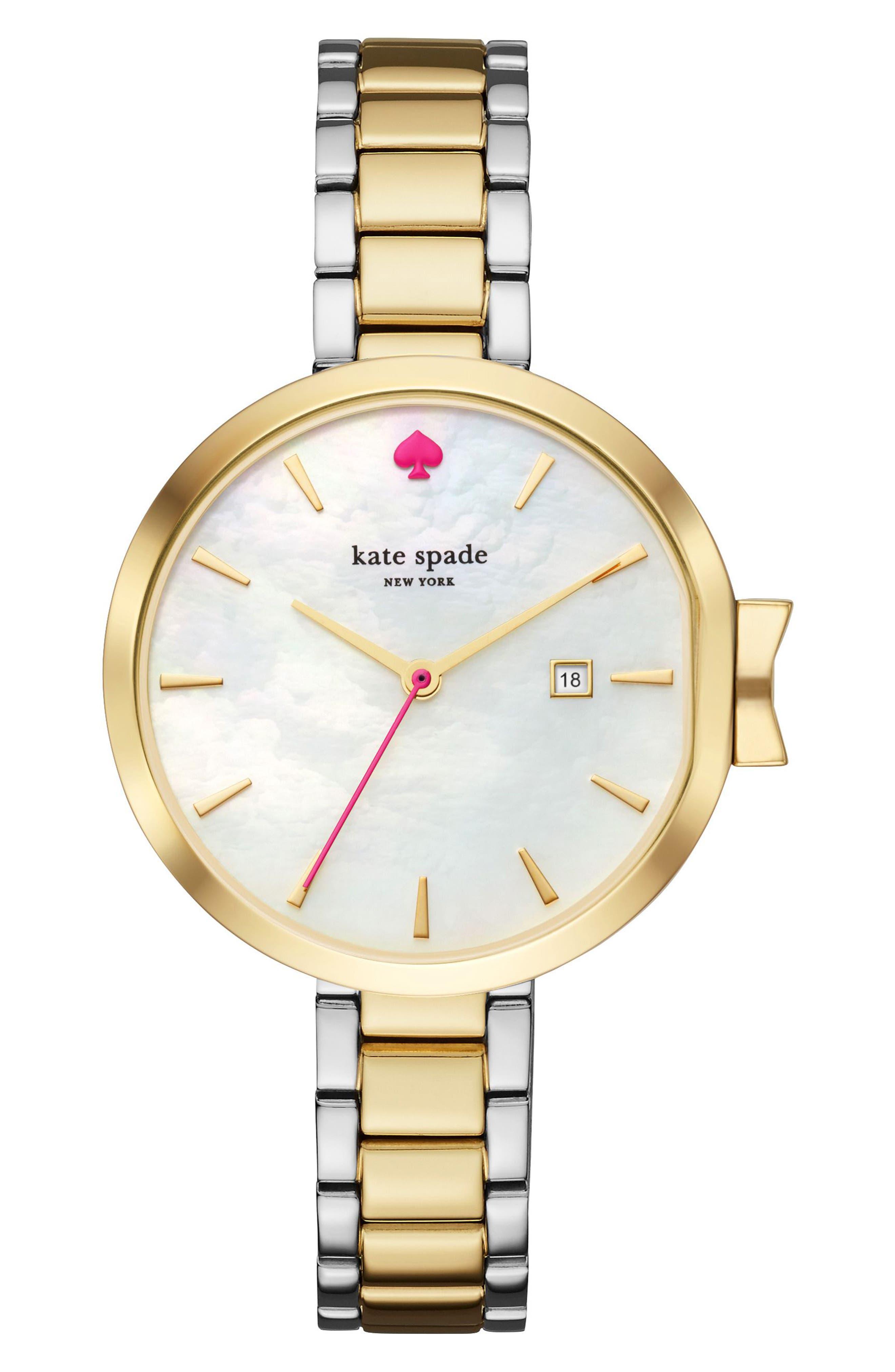 Main Image - kate spade new york park row bracelet watch, 34mm