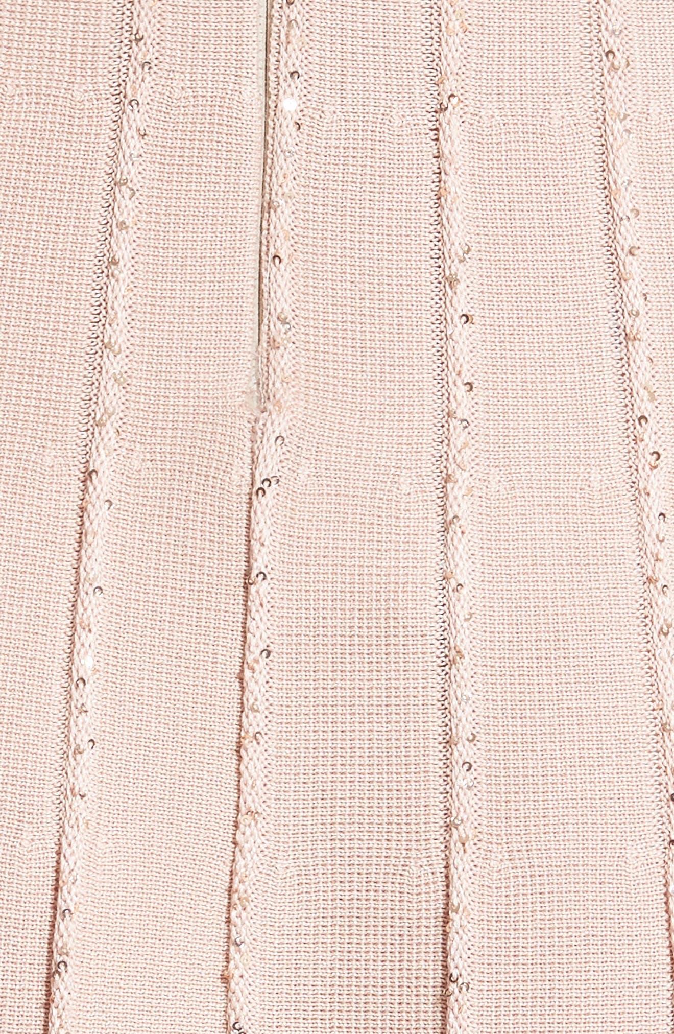 Alternate Image 3  - Oscar de la Renta Sparkle Knit Pleated Dress