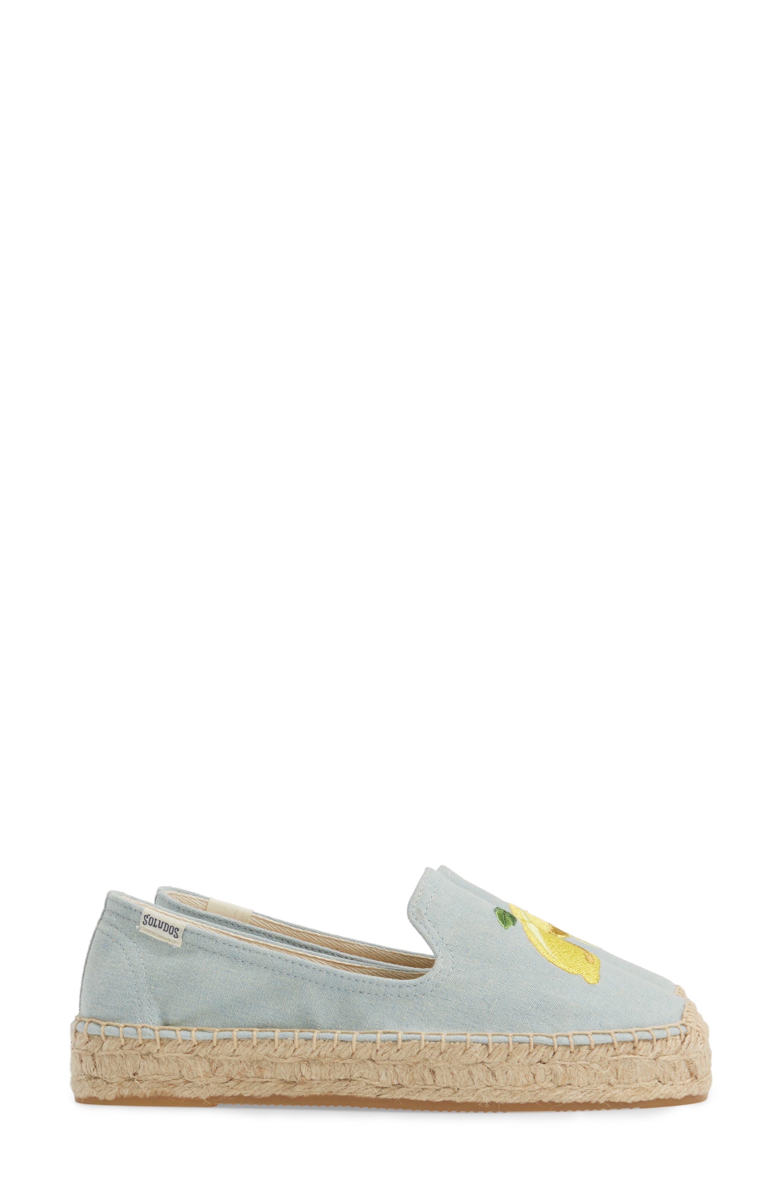 Alternate Image 4  - Soludos Lemon Espadrille Flat (Women)