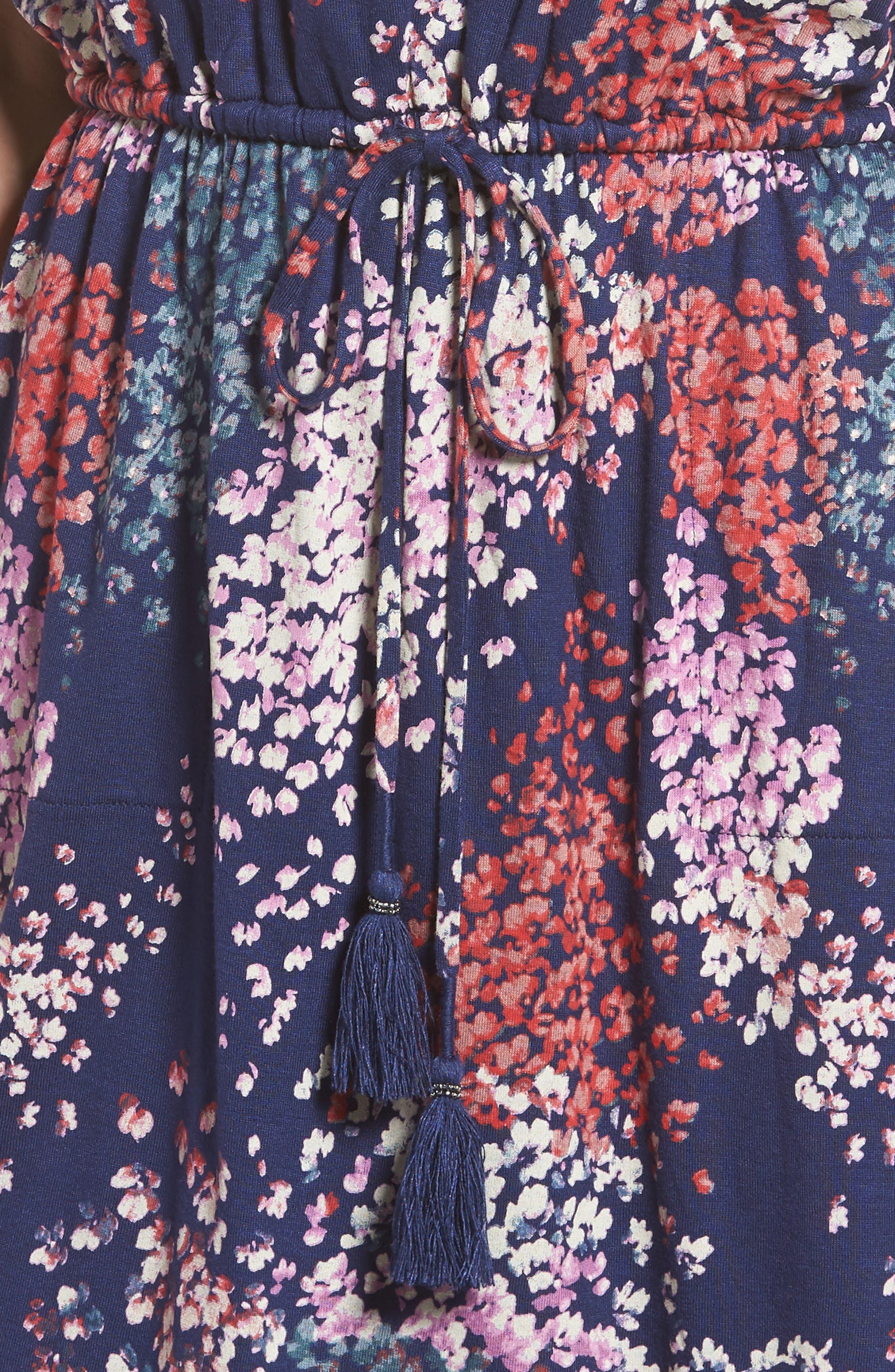 Alternate Image 4  - Lucky Brand Nora Drawstring Print Knit Dress