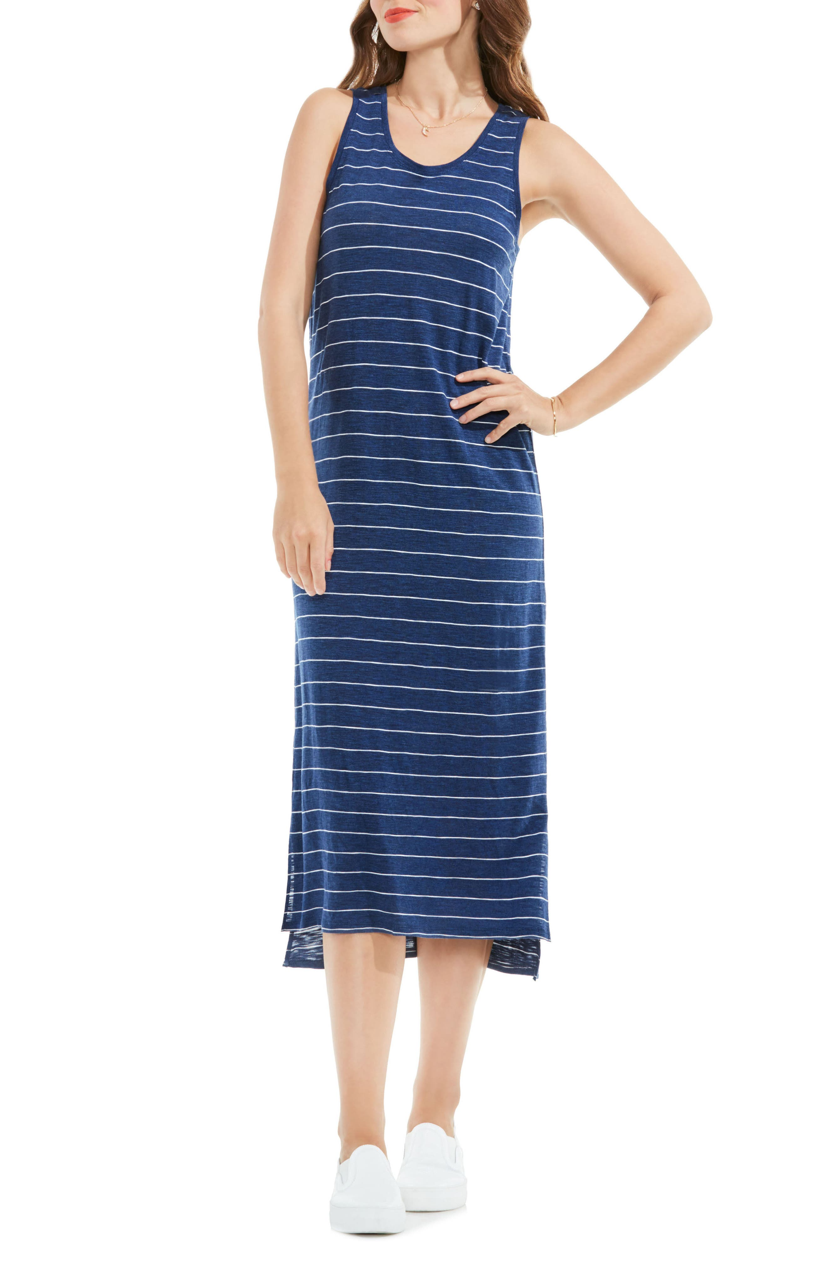 Two by Vince Camuto Delicate Stripe Tank Dress