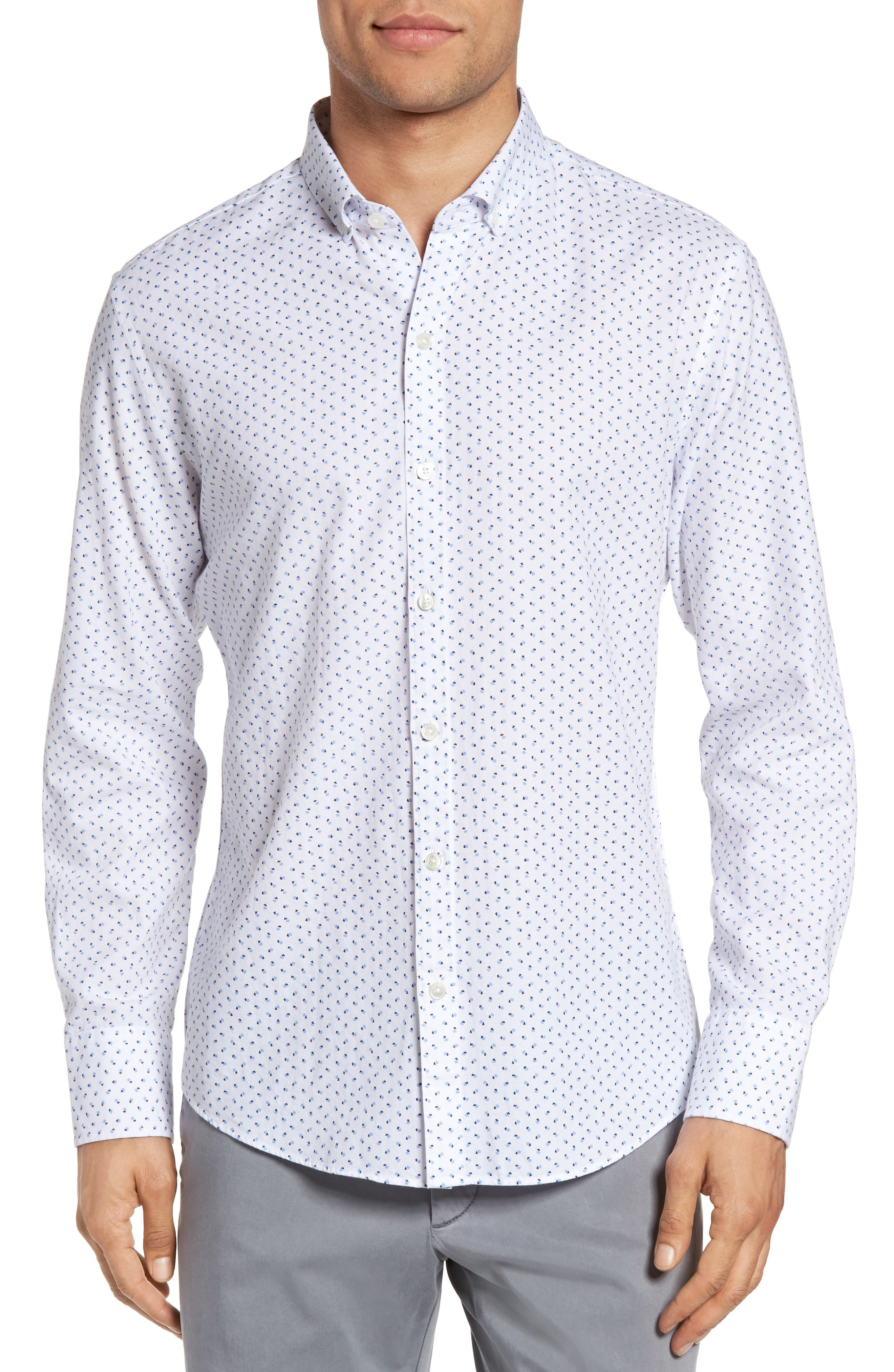 Zachary Prell Benedict Trim Fit Print Sport Shirt