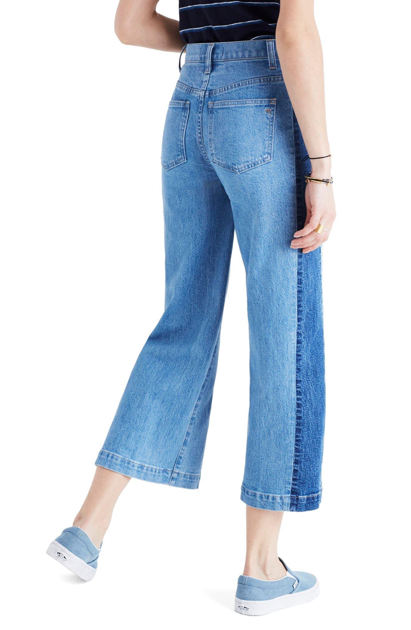 Alternate Image 3  - Madewell High Waist Crop Wide Leg Jeans (Ellendale Wash)