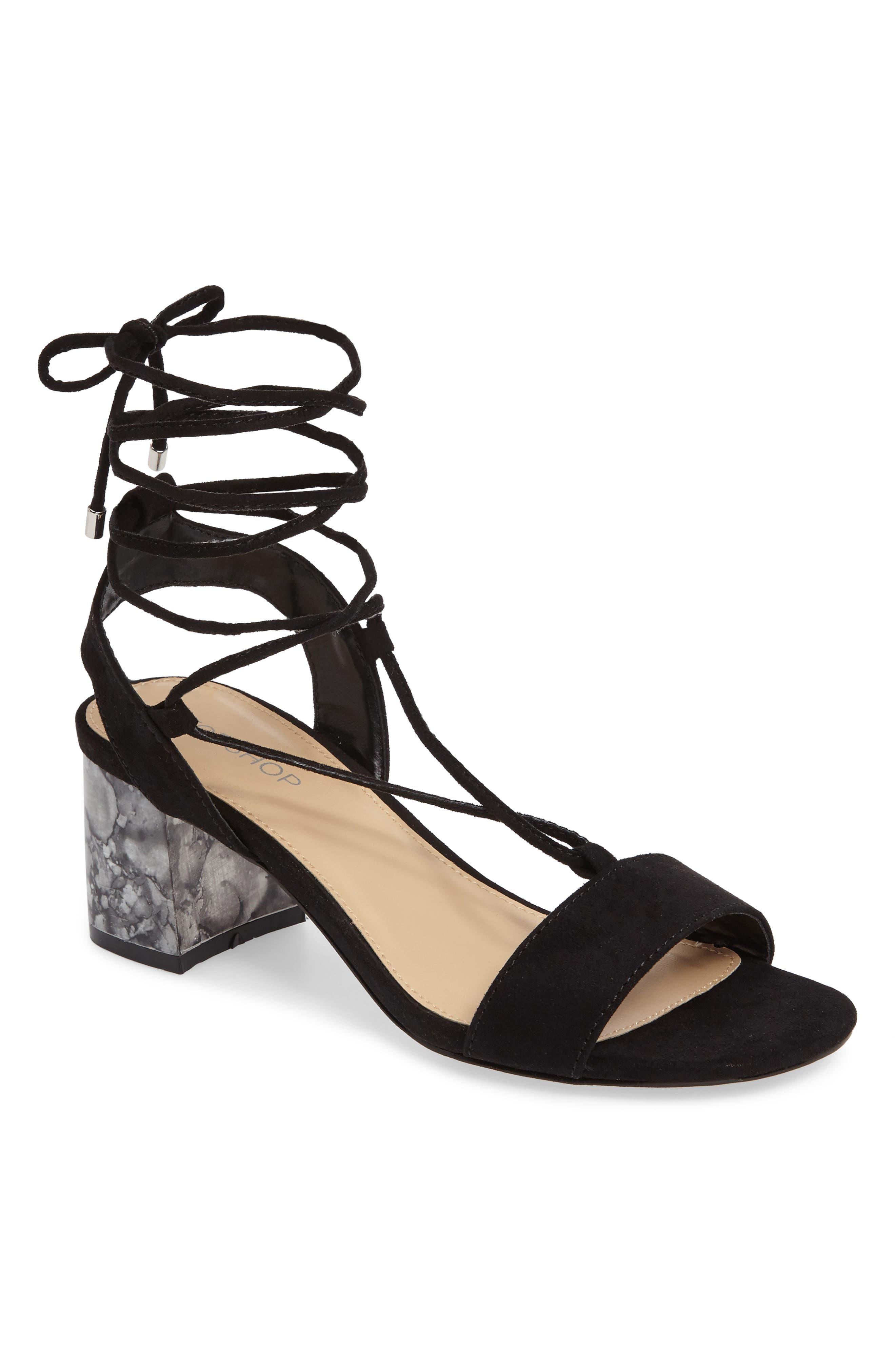 Topshop Daisy Wrap Sandal (Women)
