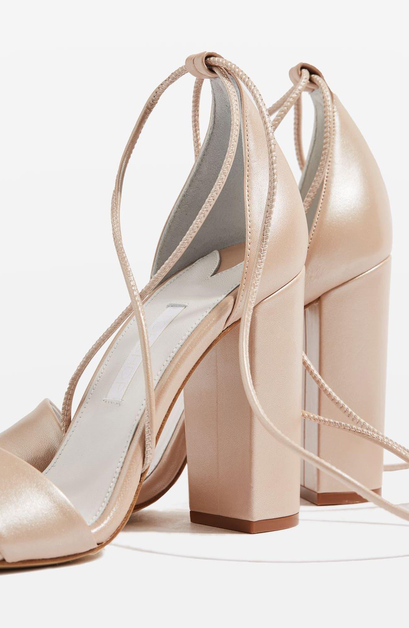 Alternate Image 3  - Topshop Bride Beatrix Lace-Up Sandals (Women)