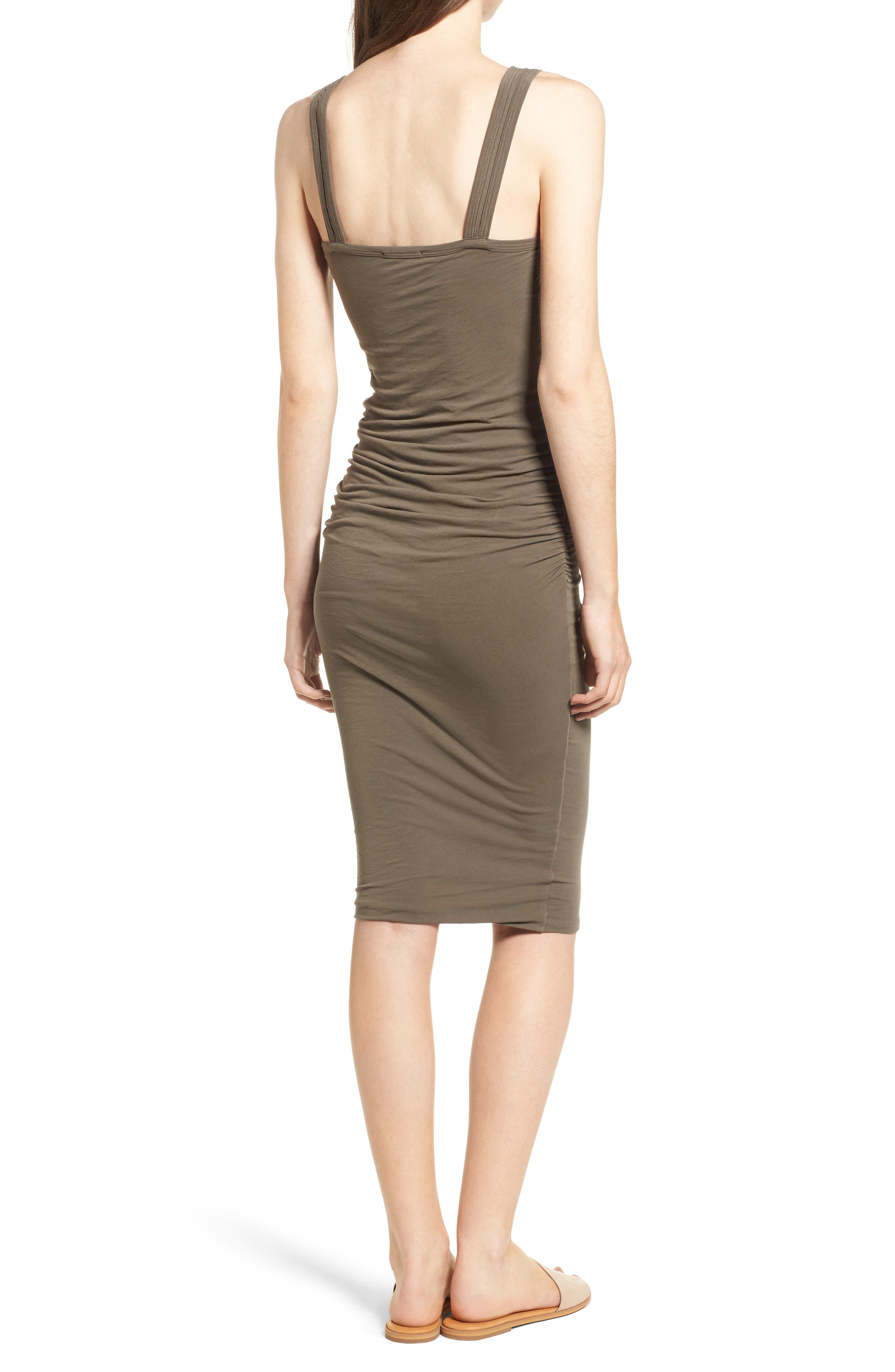 Alternate Image 2  - James Perse Skinny Ruched Tank Dress