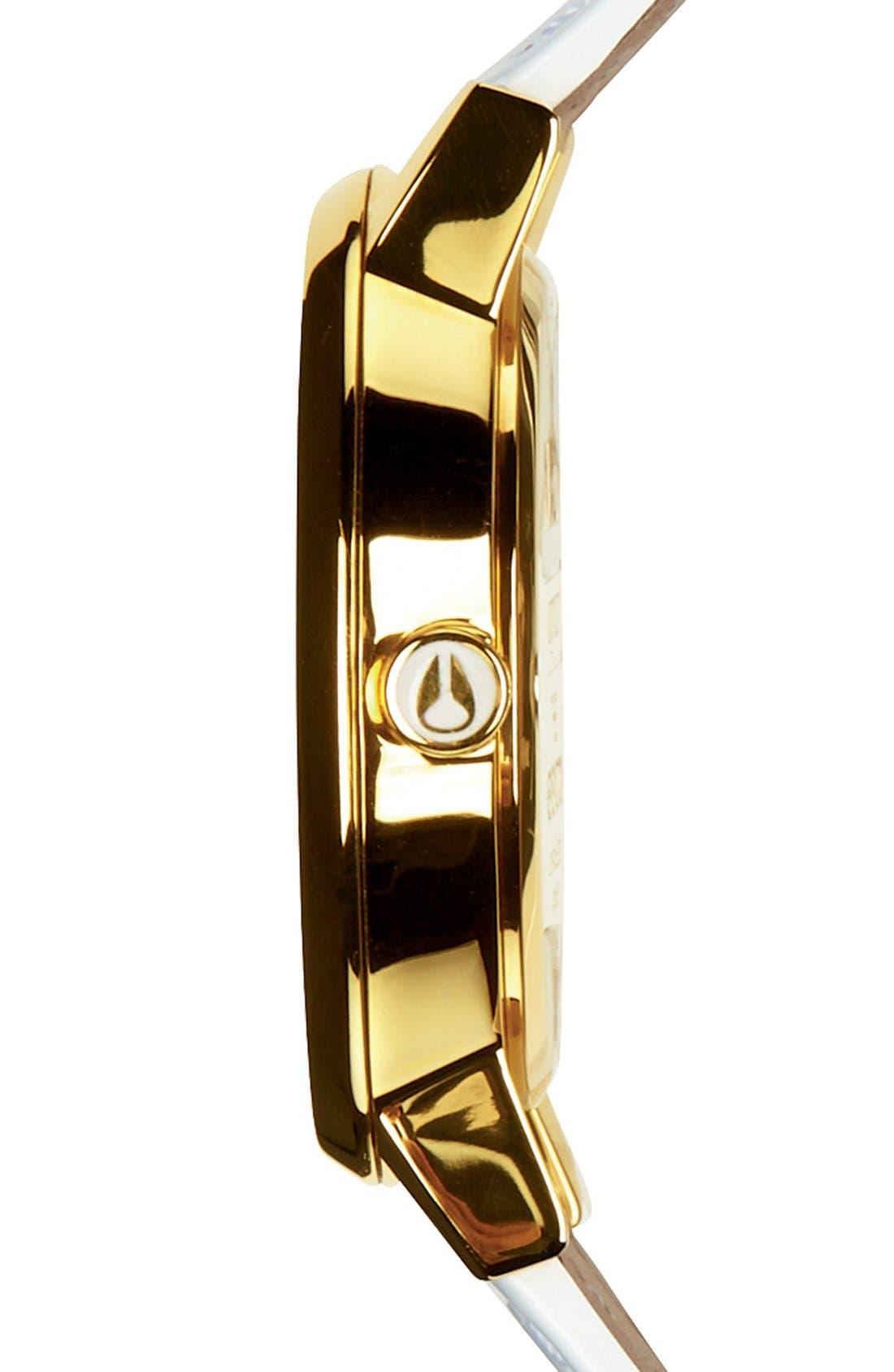 Alternate Image 3  - Nixon 'The Kensington' Patent Leather Strap Watch, 37mm