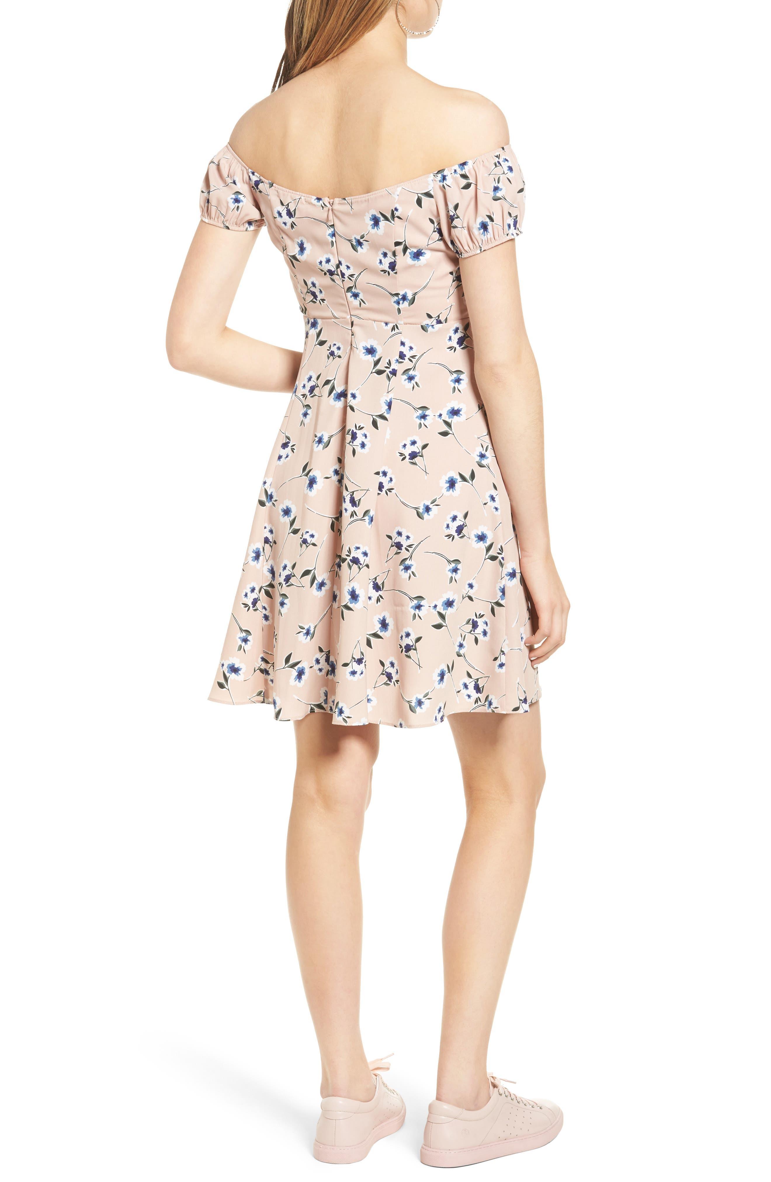 Alternate Image 2  - Soprano Off the Shoulder Skater Dress