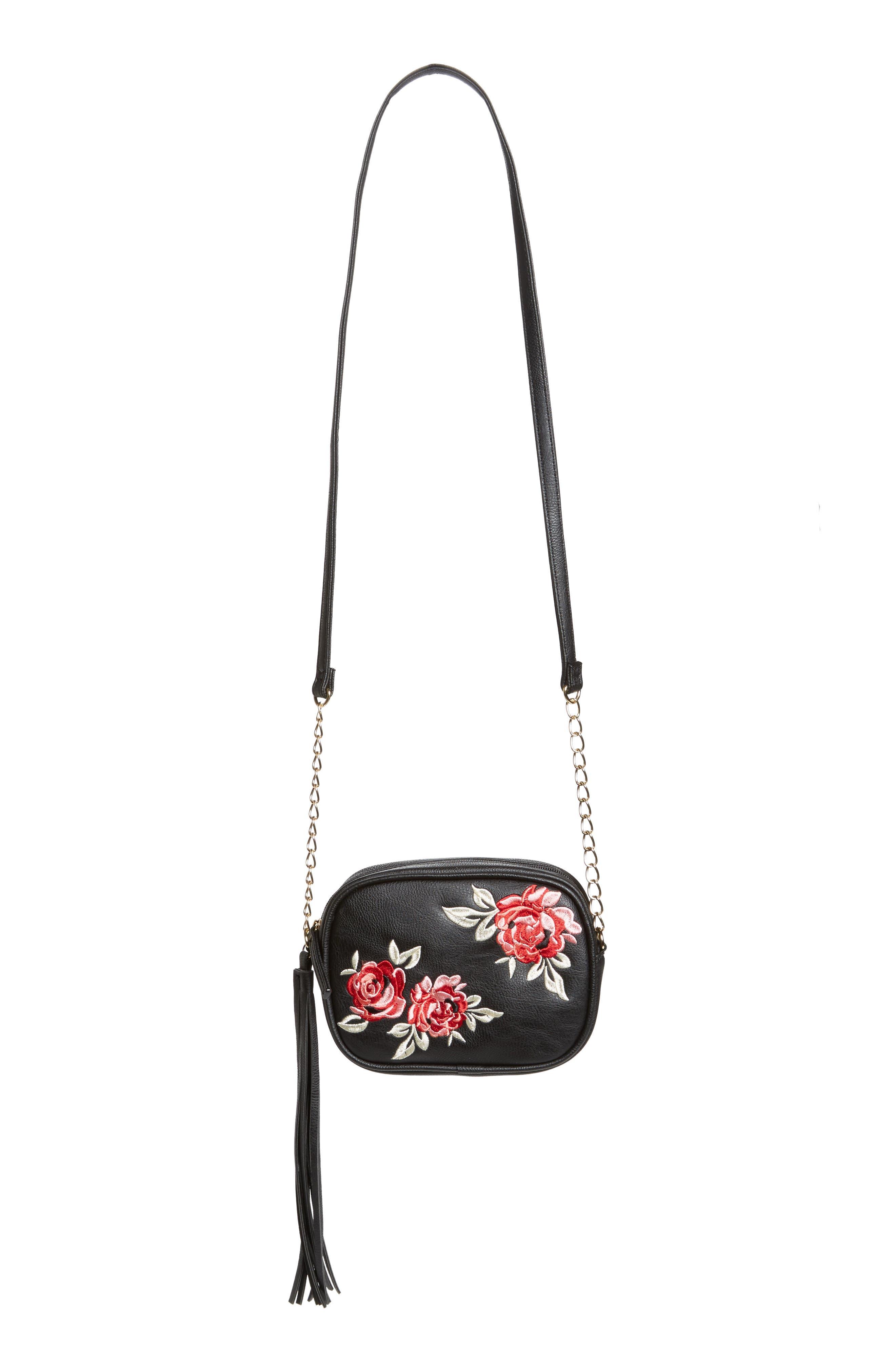 OMG Rose Embroidery Crossbody Bag (Girls)