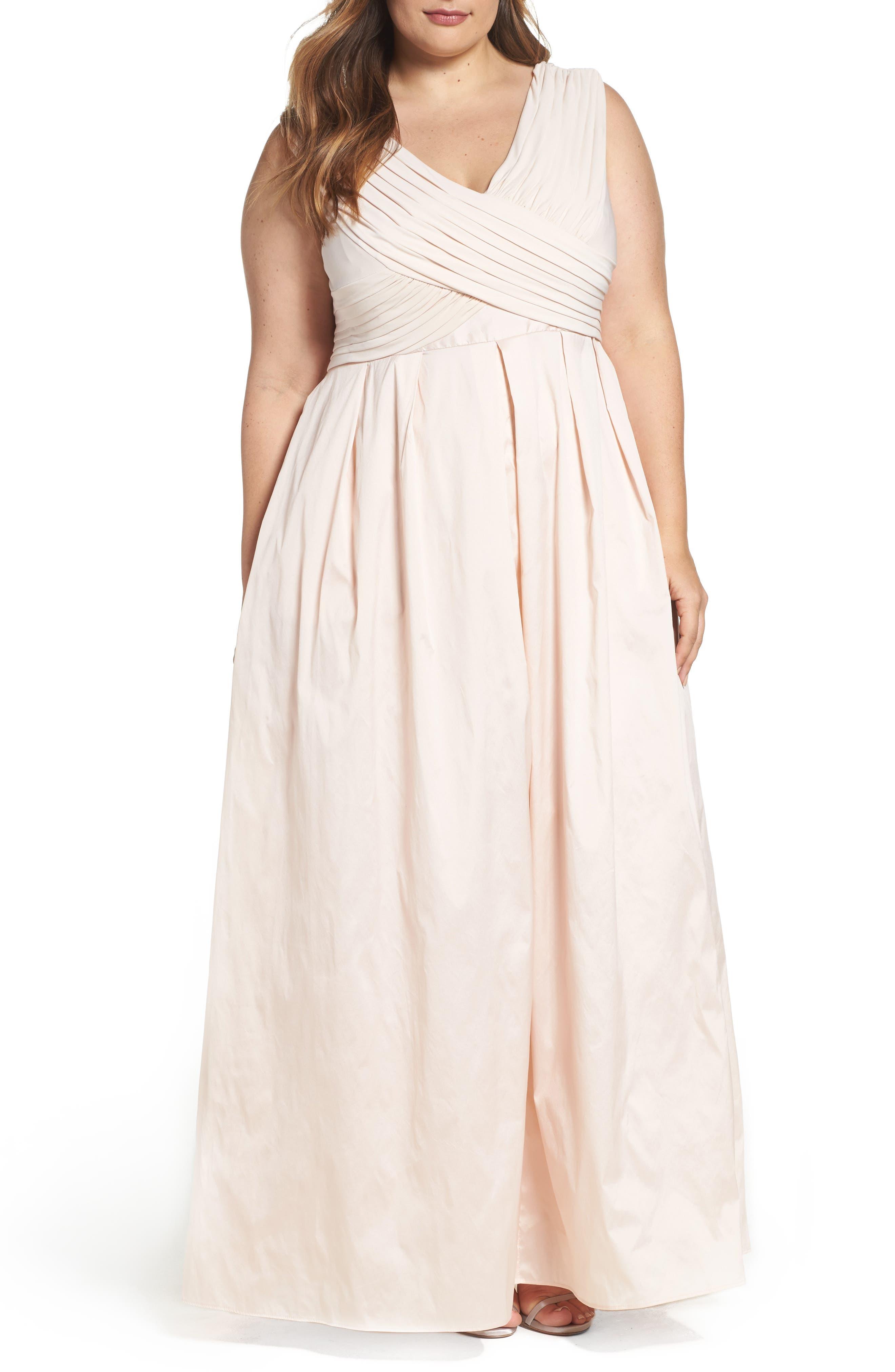 Adrianna Papell Taffeta Gown (Plus Size)