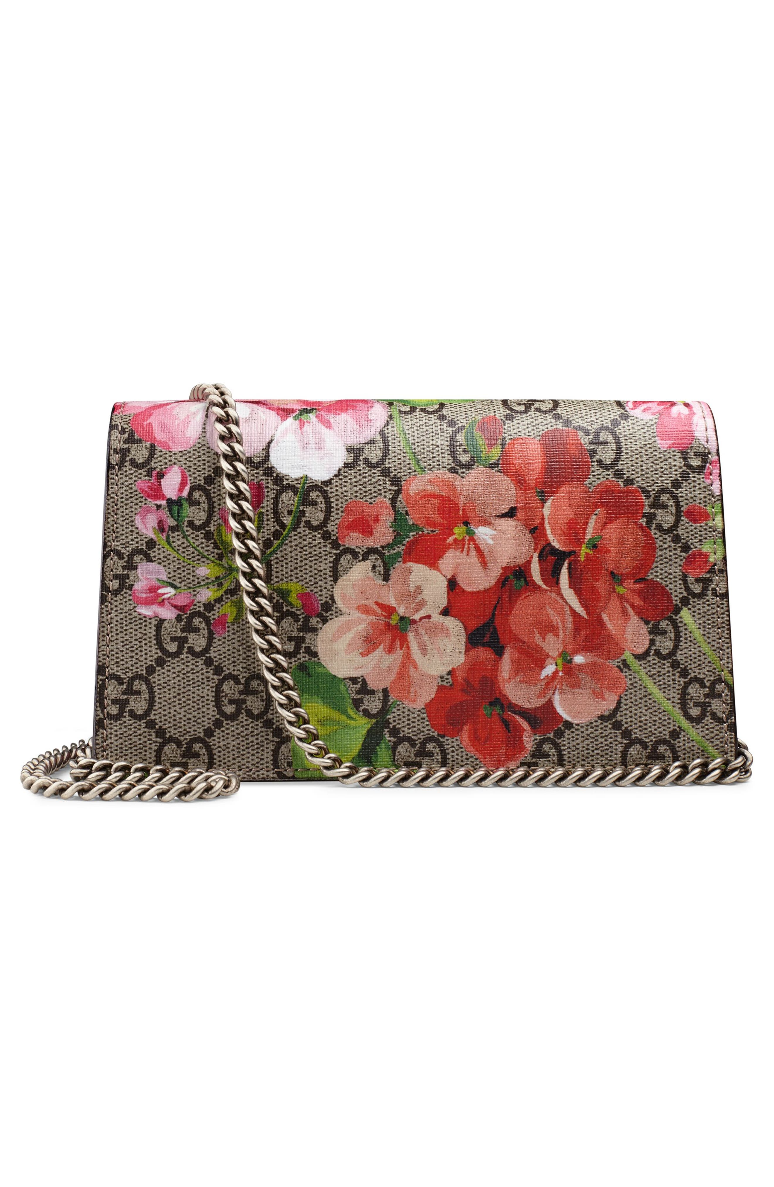 Alternate Image 2  - Gucci Super Mini Dionysus GG Blooms Canvas Shoulder Bag
