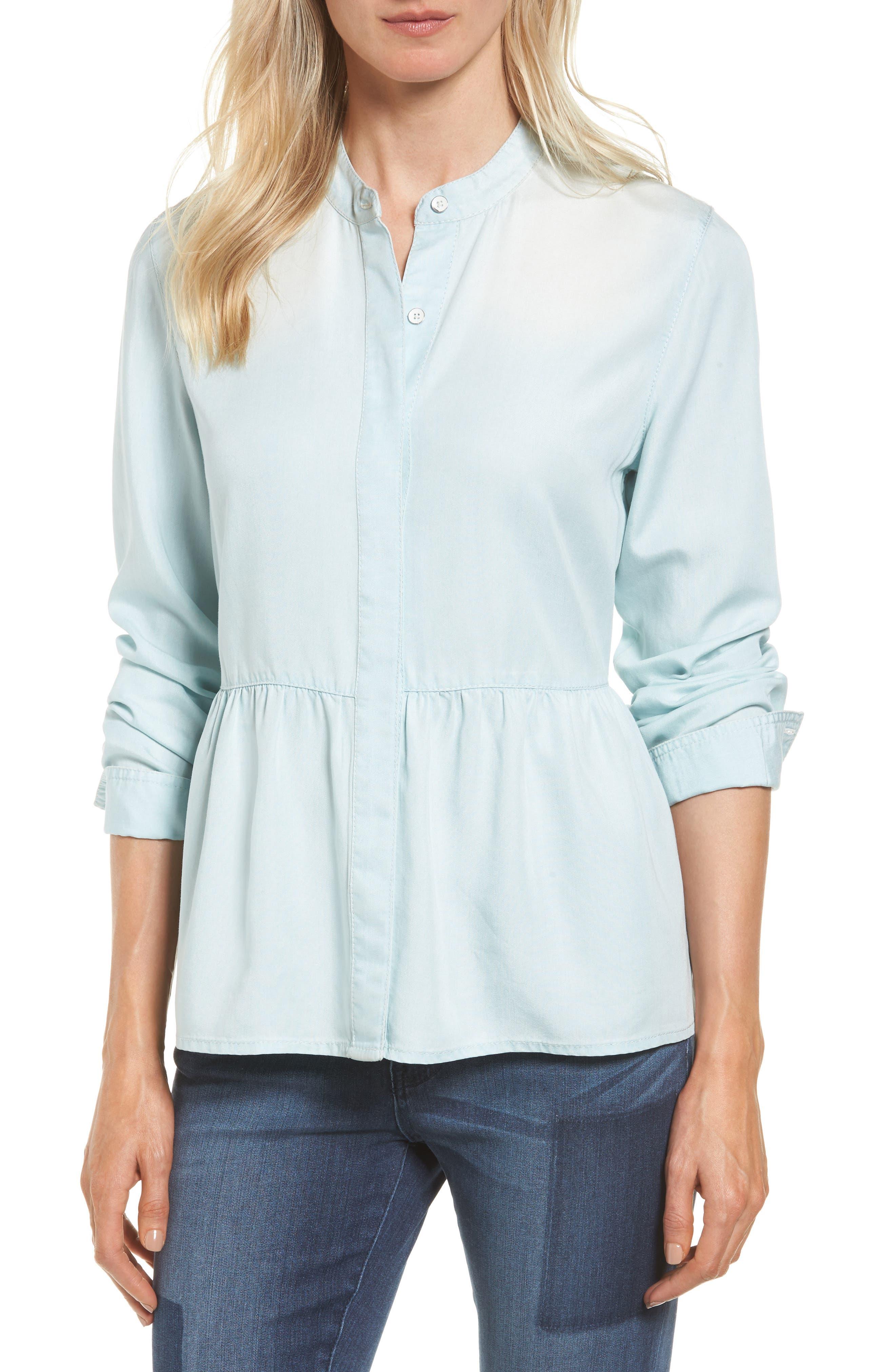 Alternate Image 1 Selected - Caslon® Peplum Shirt (Regular & Petite)