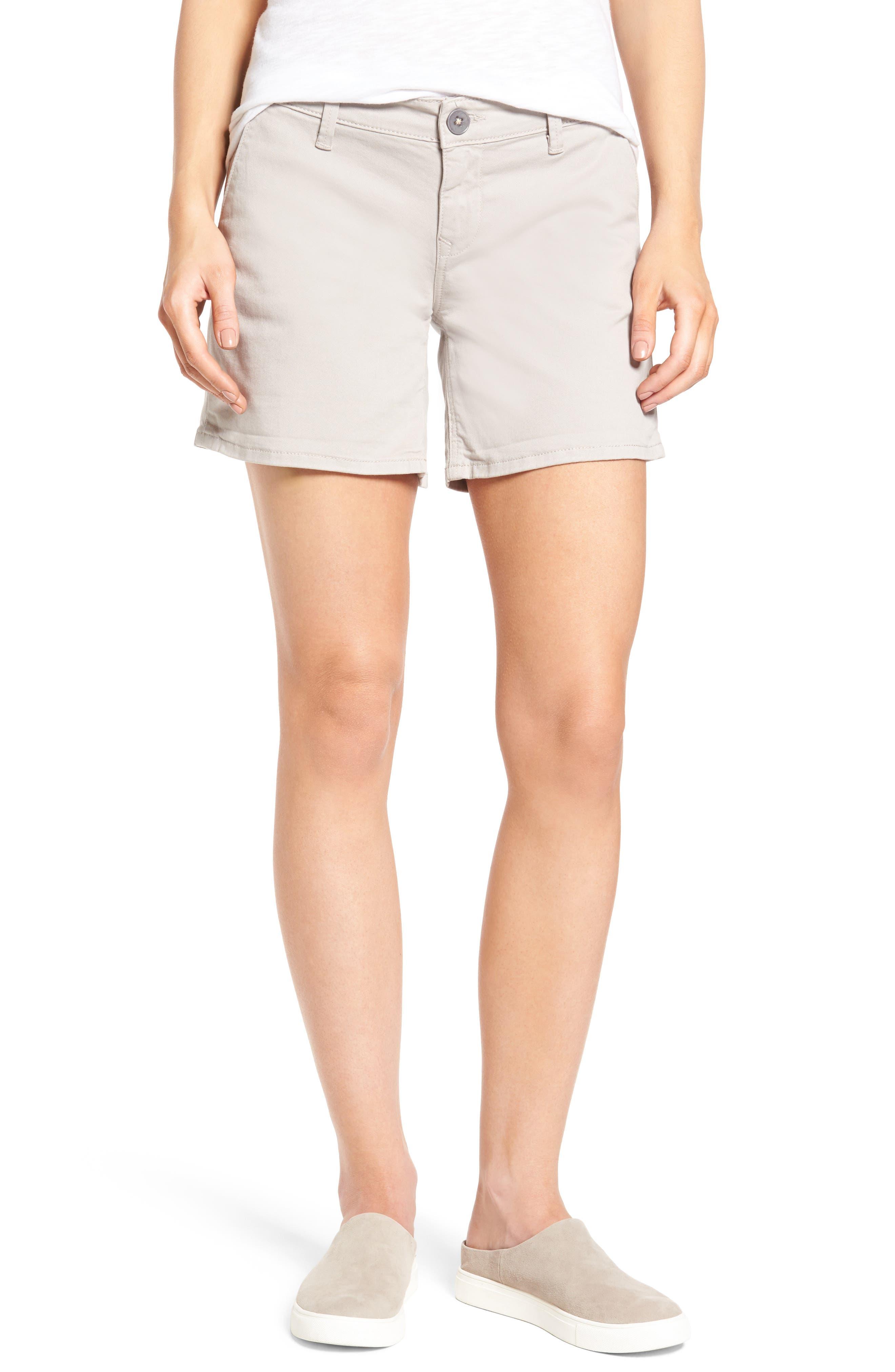 Mavi Jeans Vienna Stretch Twill Shorts (Silver Mink)