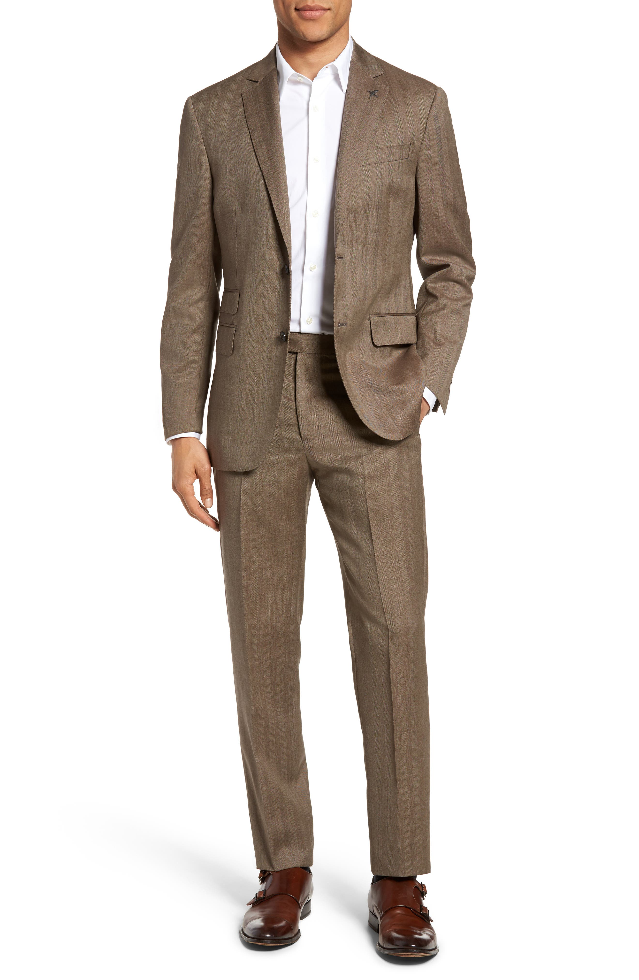 Michael Bastian Classic Fit Herringbone Wool Suit