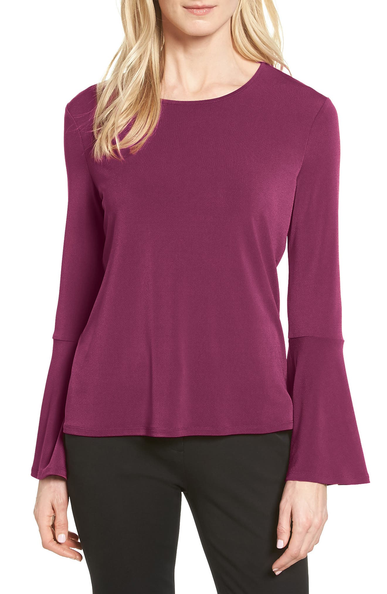 CeCe Bell Sleeve Knit Top