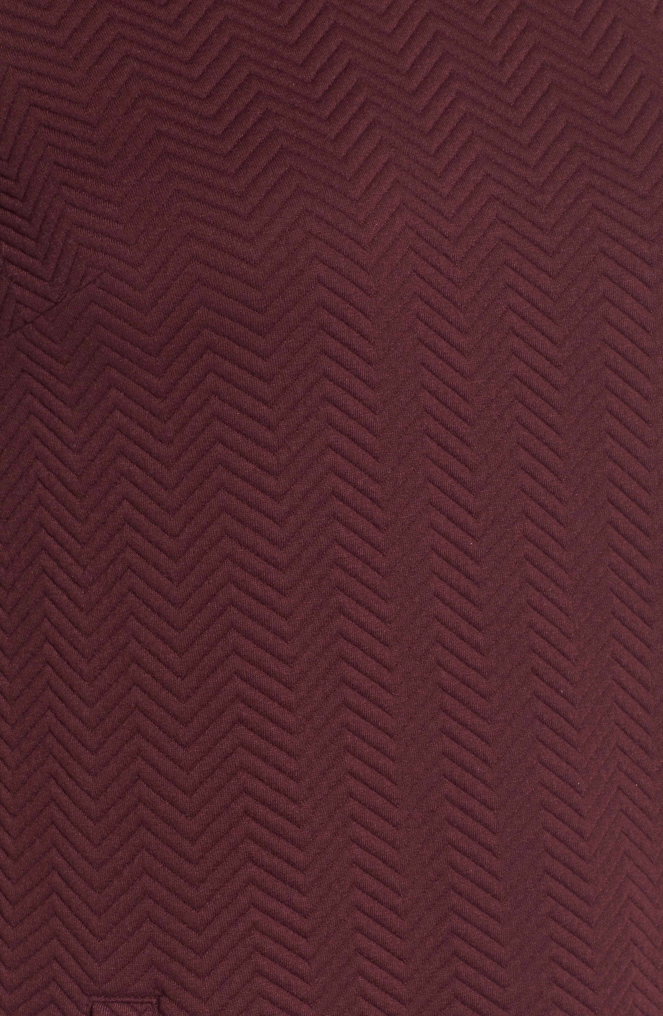 Alternate Image 5  - Halogen® Textured Elbow Sleeve Tunic Dress (Regular & Petite)