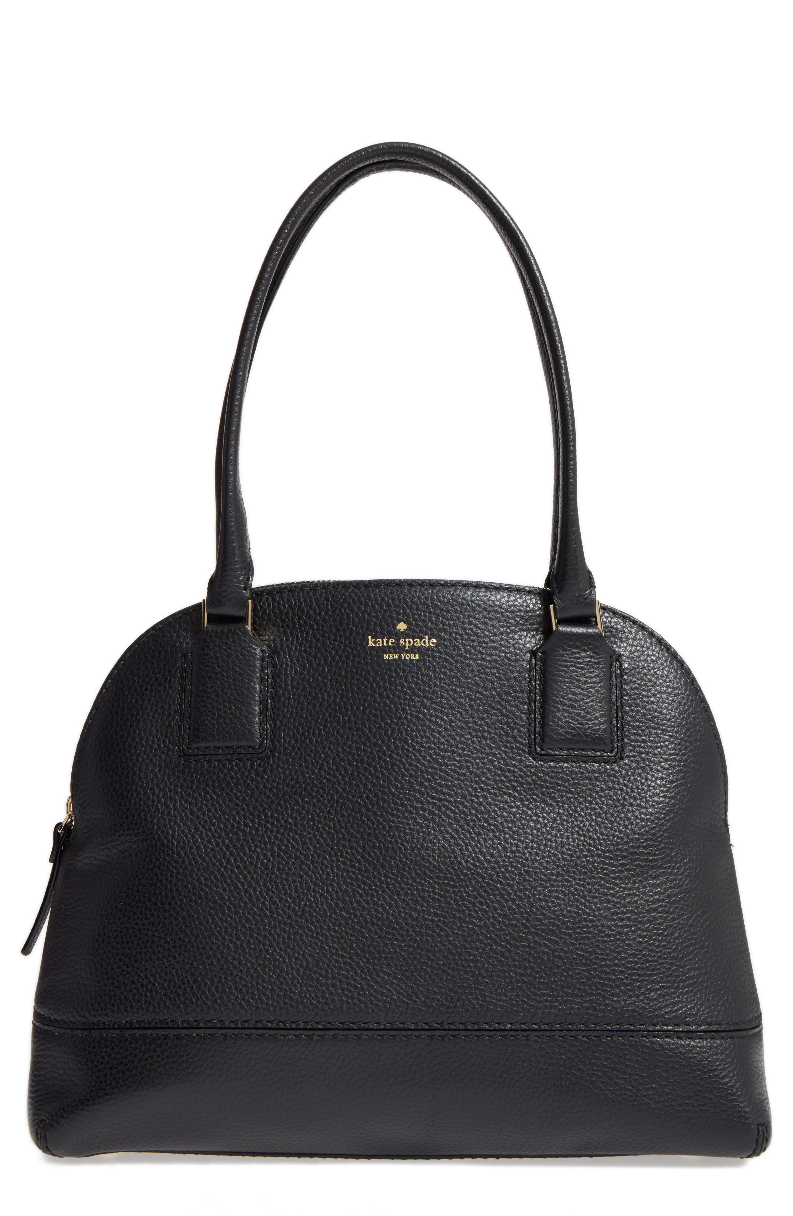 kate spade new york young lane - small anika leather dome satchel