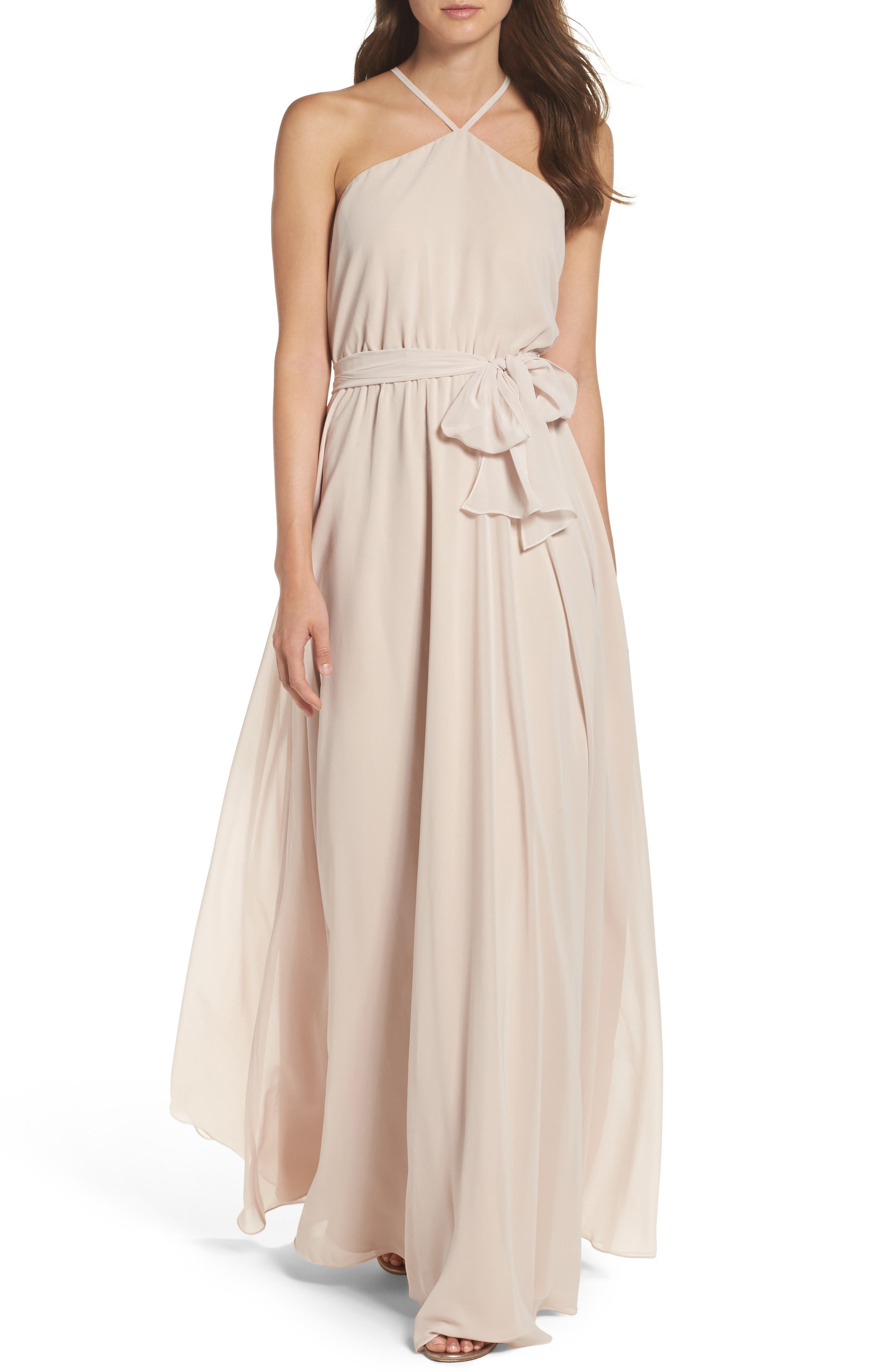 Ceremony by Joanna August Halter Chiffon Gown