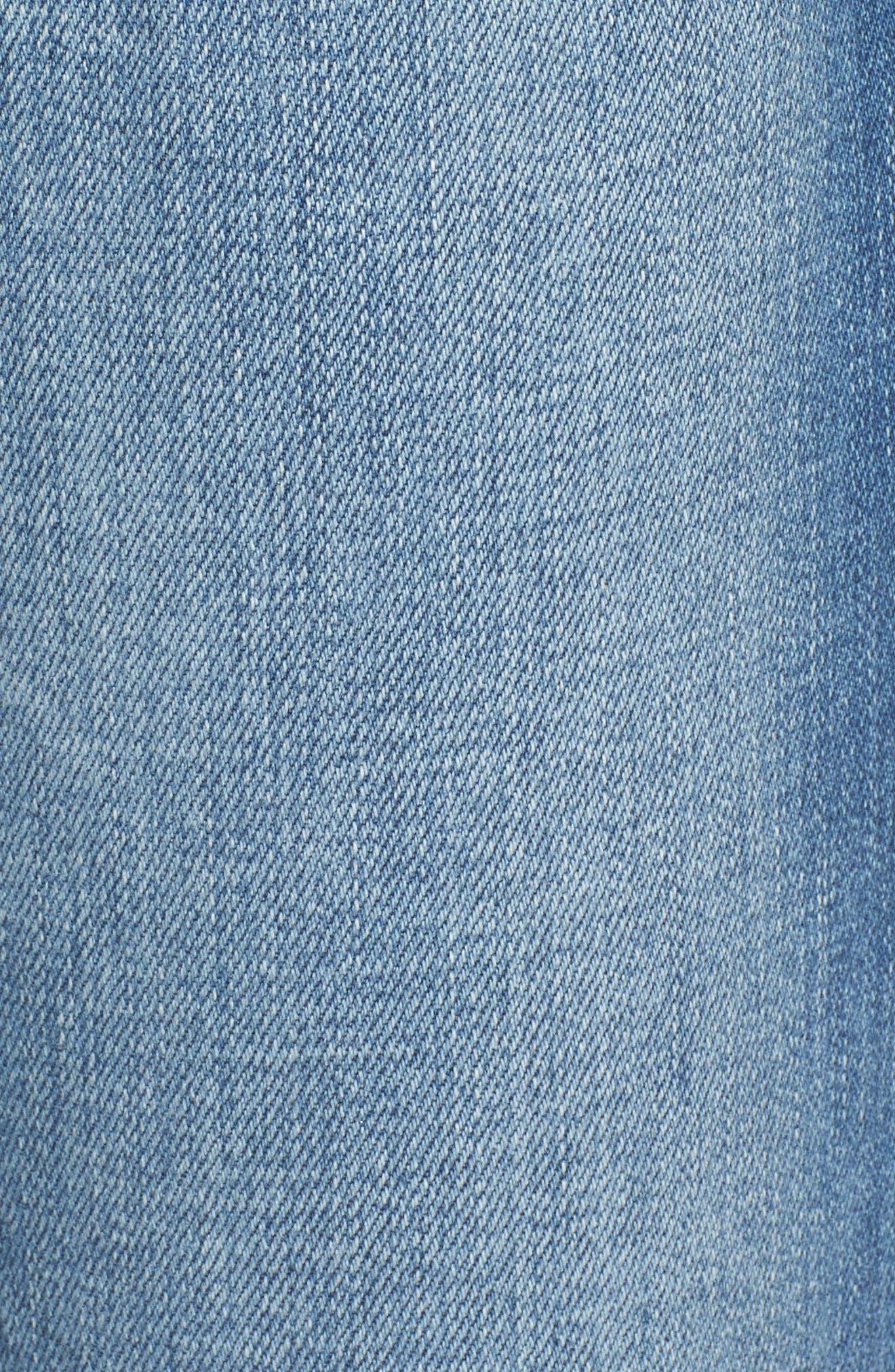 Alternate Image 6  - FRAME Le Boy Zip Hem Crop Jeans (Picadilly) (Nordstrom Exclusive)