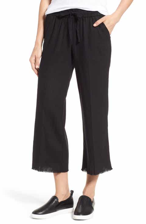 Black Linen Cropped Pants for Women: Jeans, Print, Capri & More ...