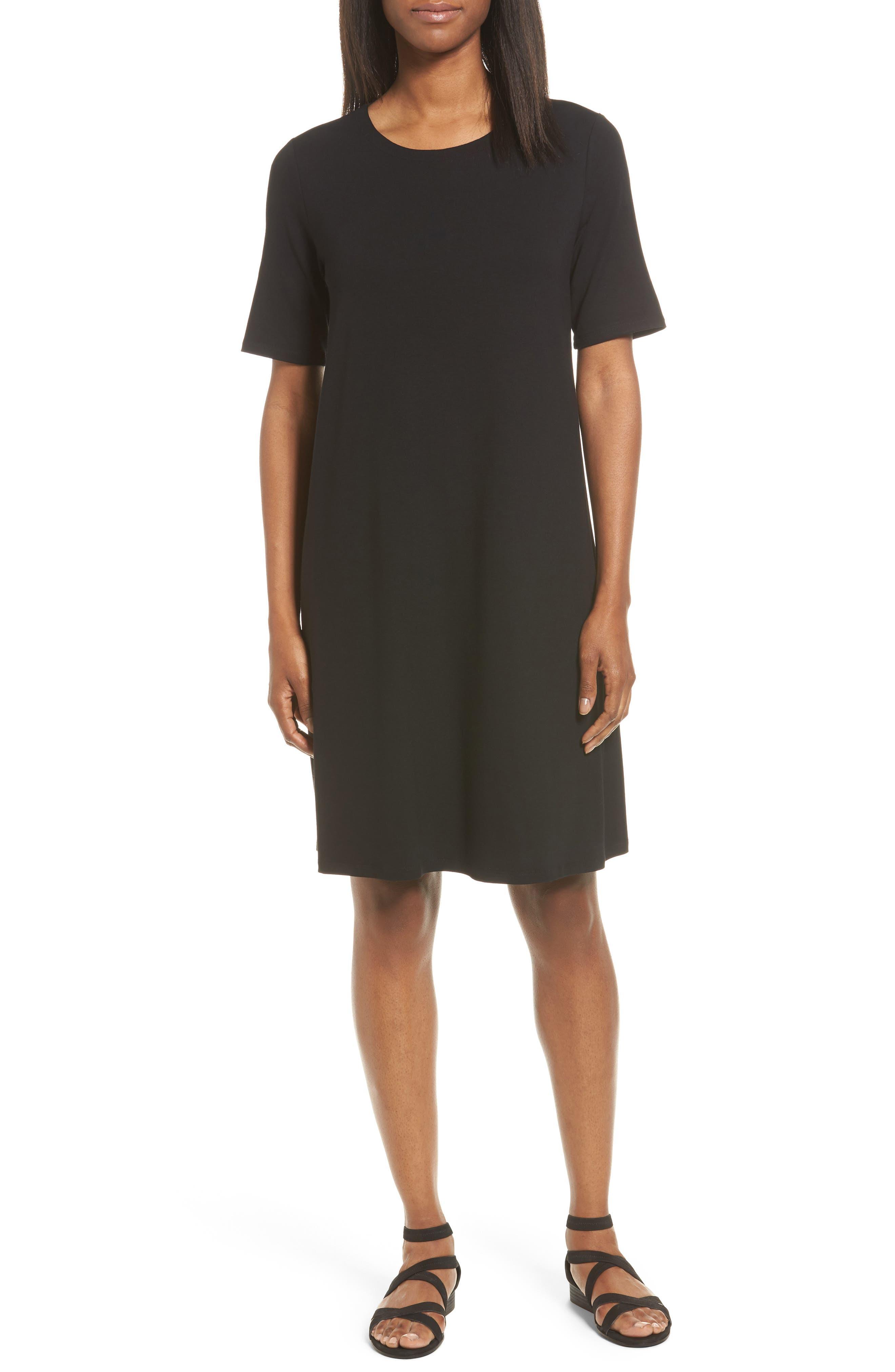 Eileen Fisher Jersey A-Line Dress (Regular & Petite)
